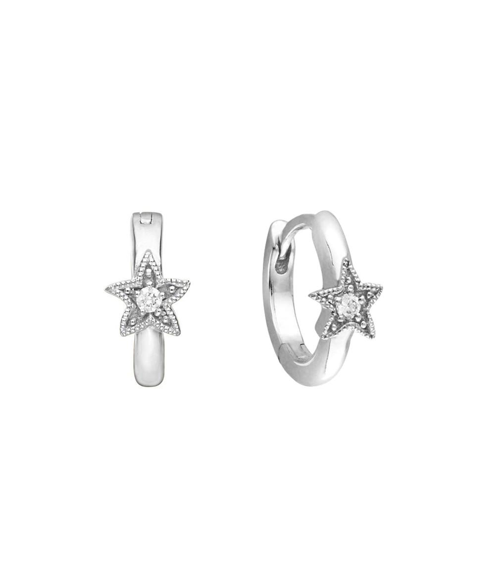 STELLA MC CARTNEY - Mini Créole Petite Étoile Or Diamants (vendue à l'unité)
