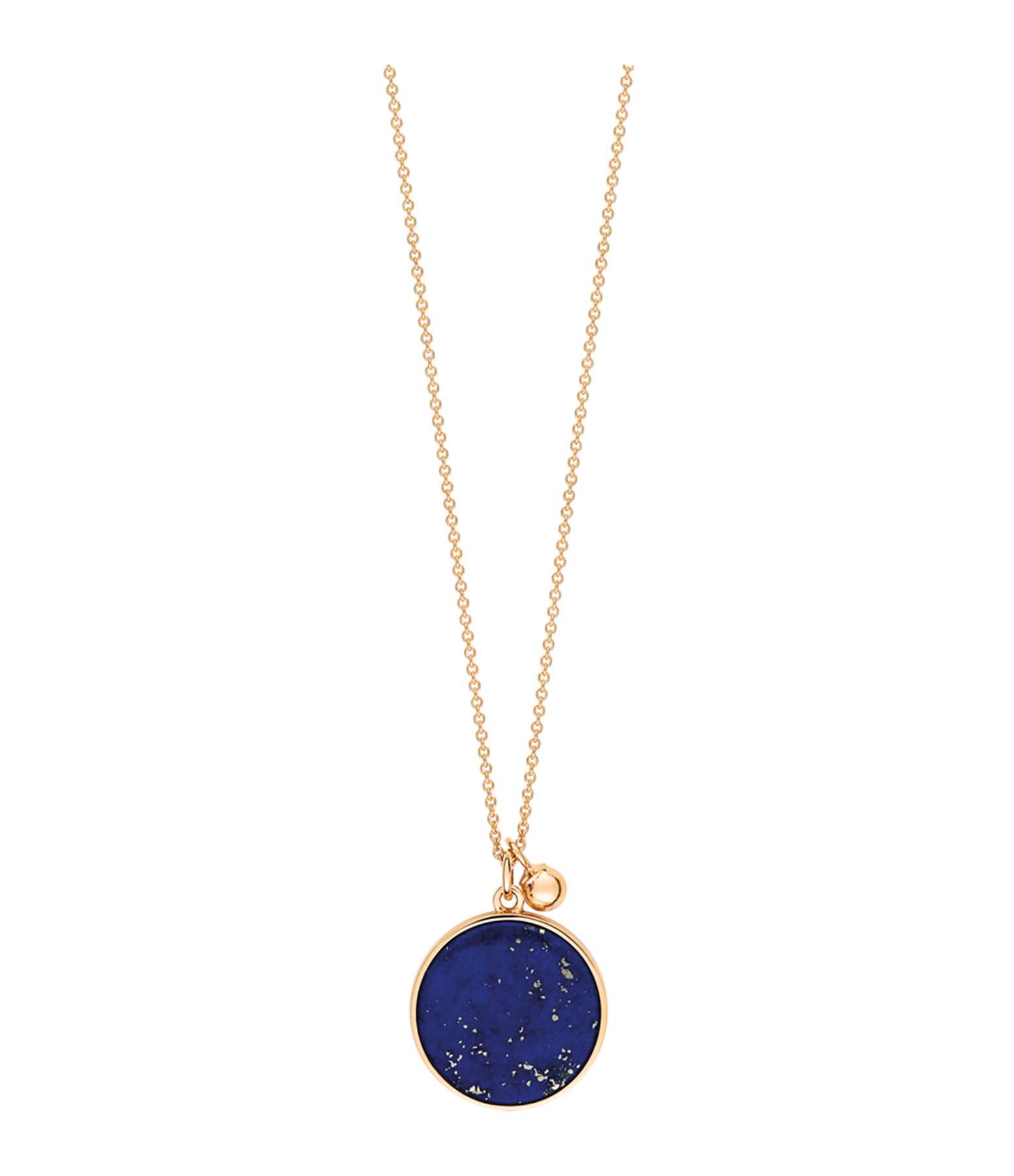 GINETTE NY - Collier Ever Disc Or Rose Lapis Lazuli