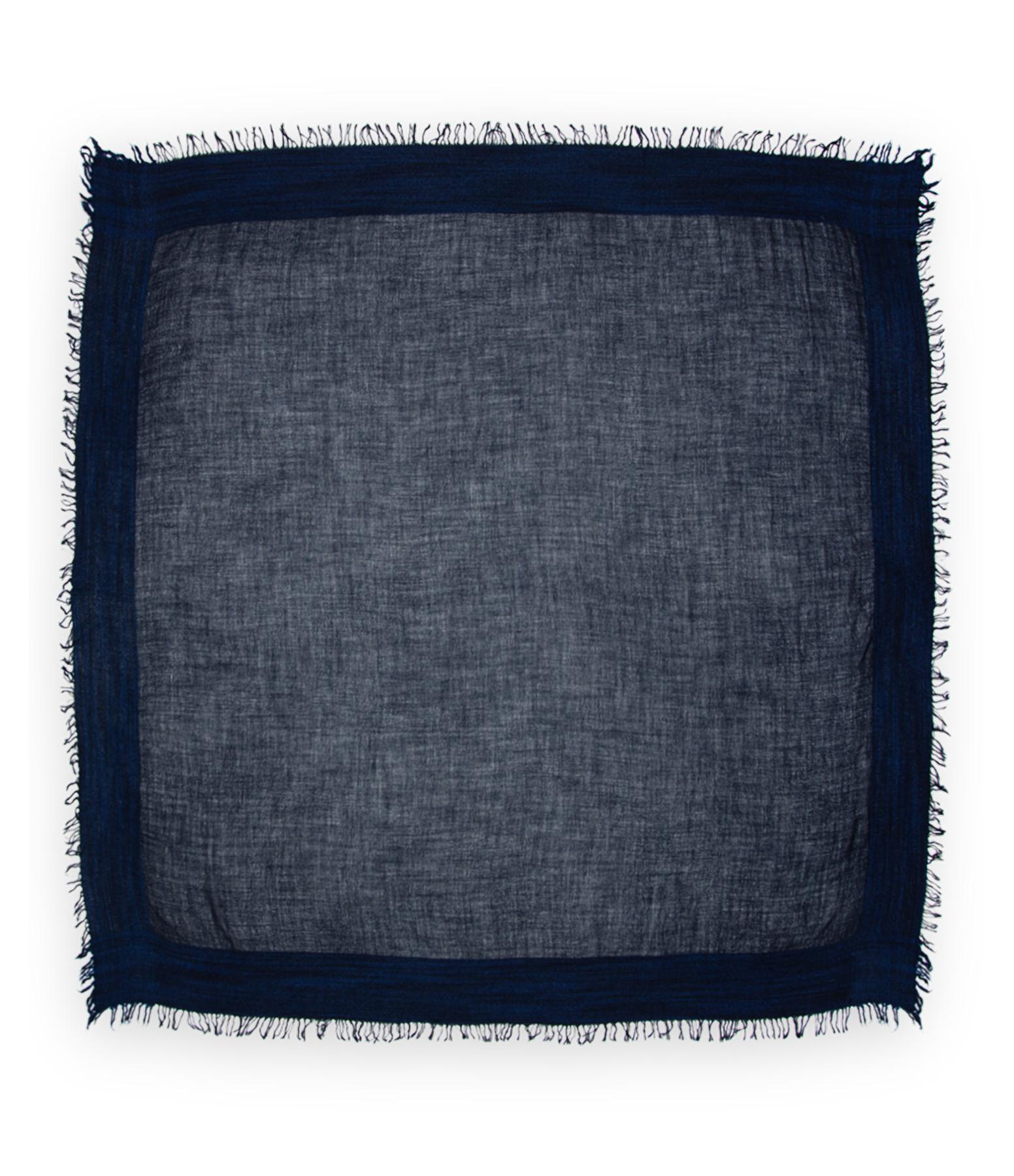 FALIERO SARTI - Foulard Leonor Cachemire Soie Laine Bleu