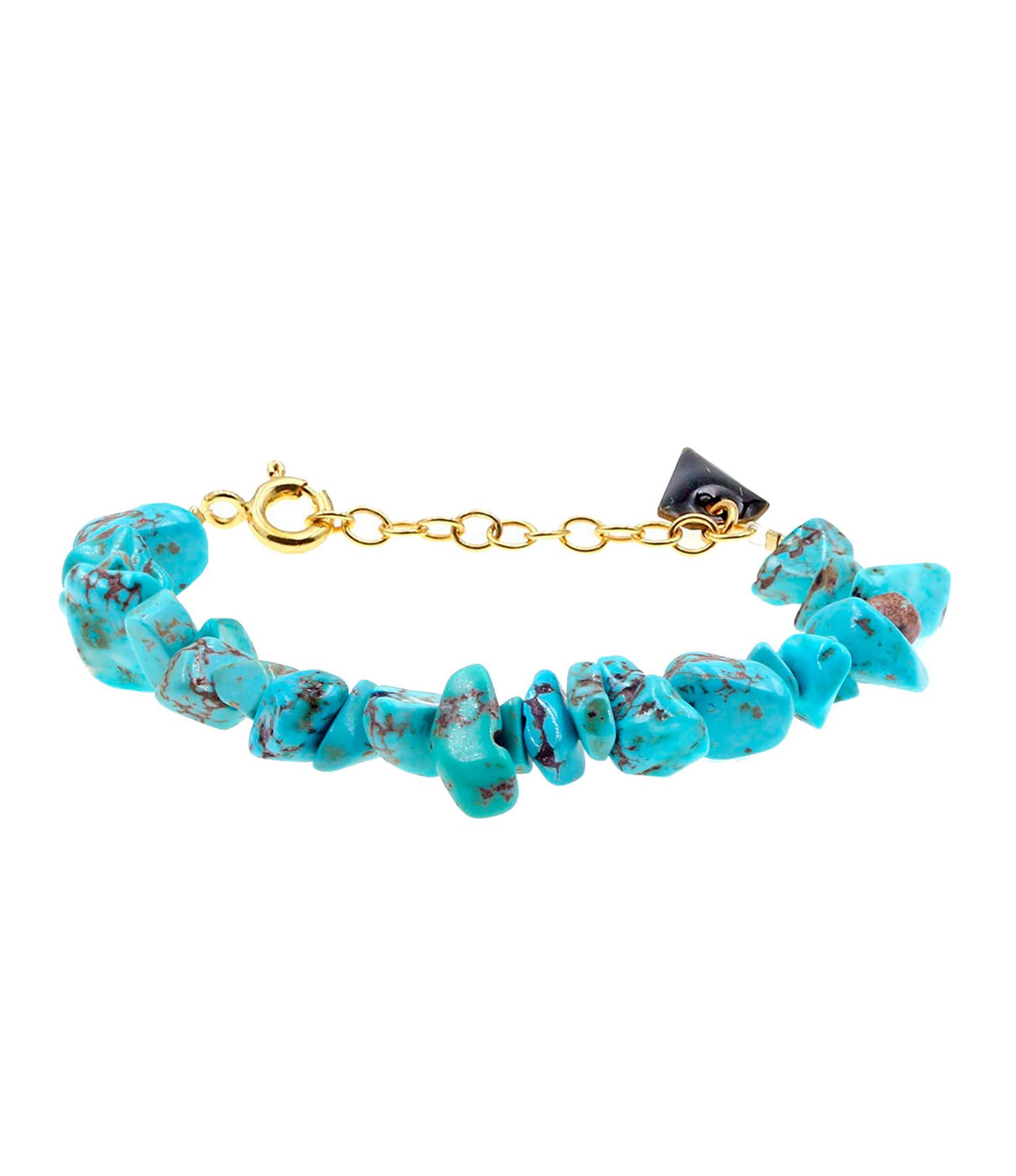 MON PRECIEUX GEM - Bracelet Facettes Turquoise