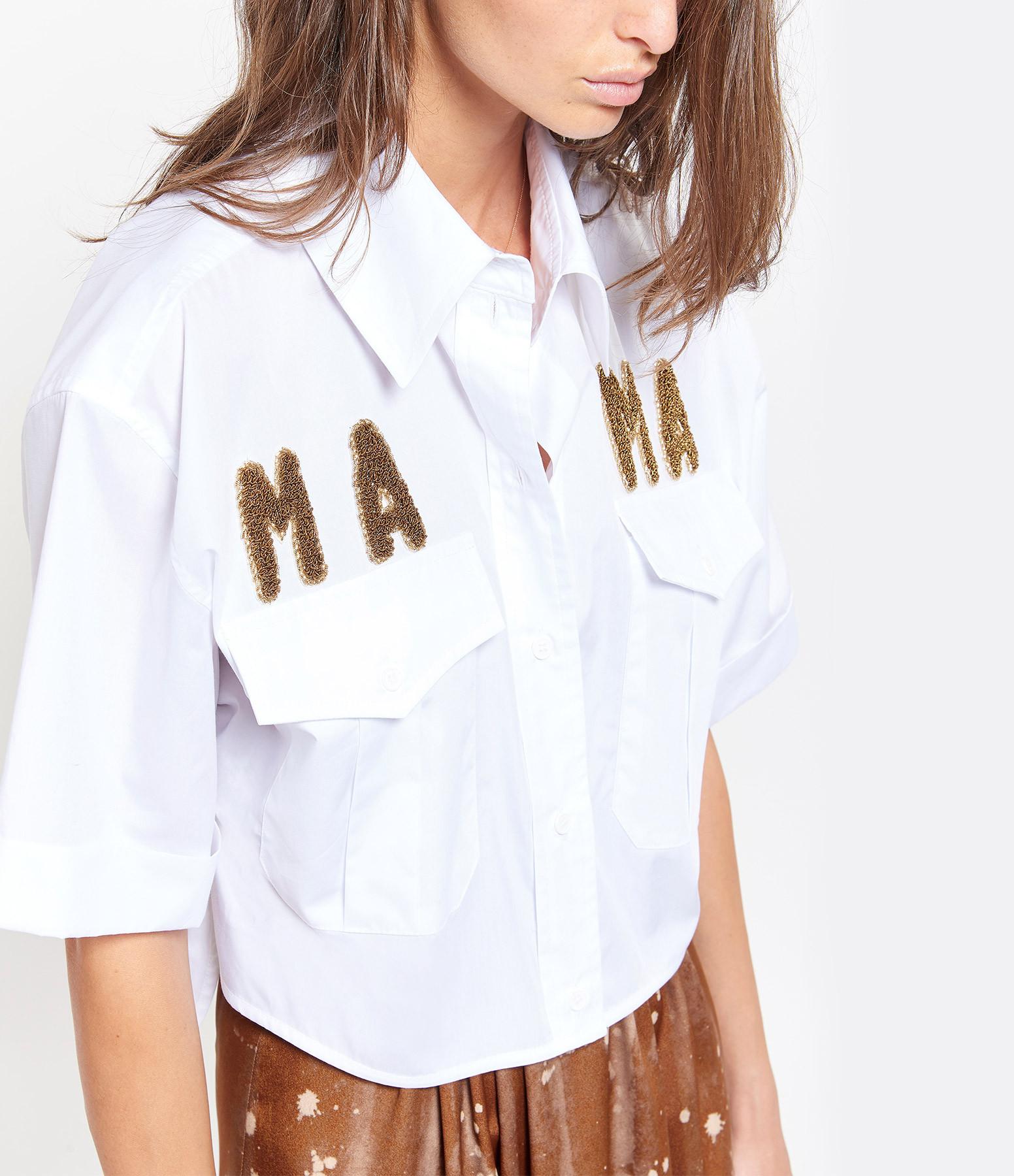 FORTE DEI MARMI COUTURE - Chemise Mama Coton Blanc