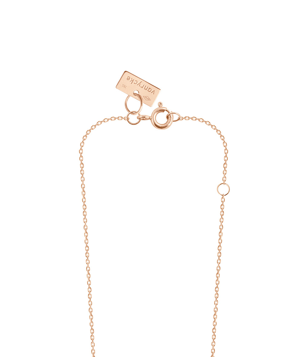 VANRYCKE - Collier Stardust Or Rose 1 Diamant Noir