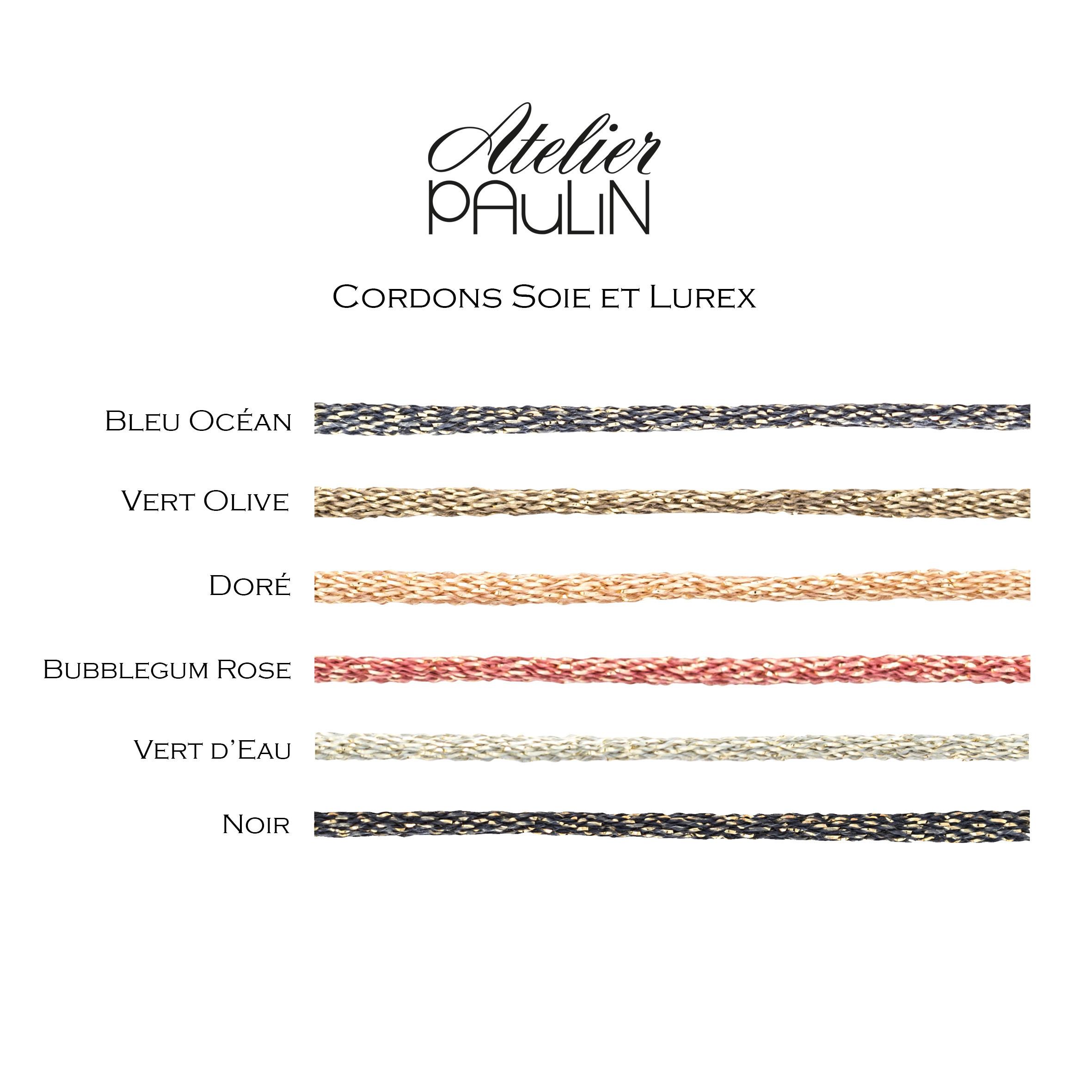 ATELIER PAULIN - Bracelet Cordon Lurex Personnalisable Gold Filled Or Rose