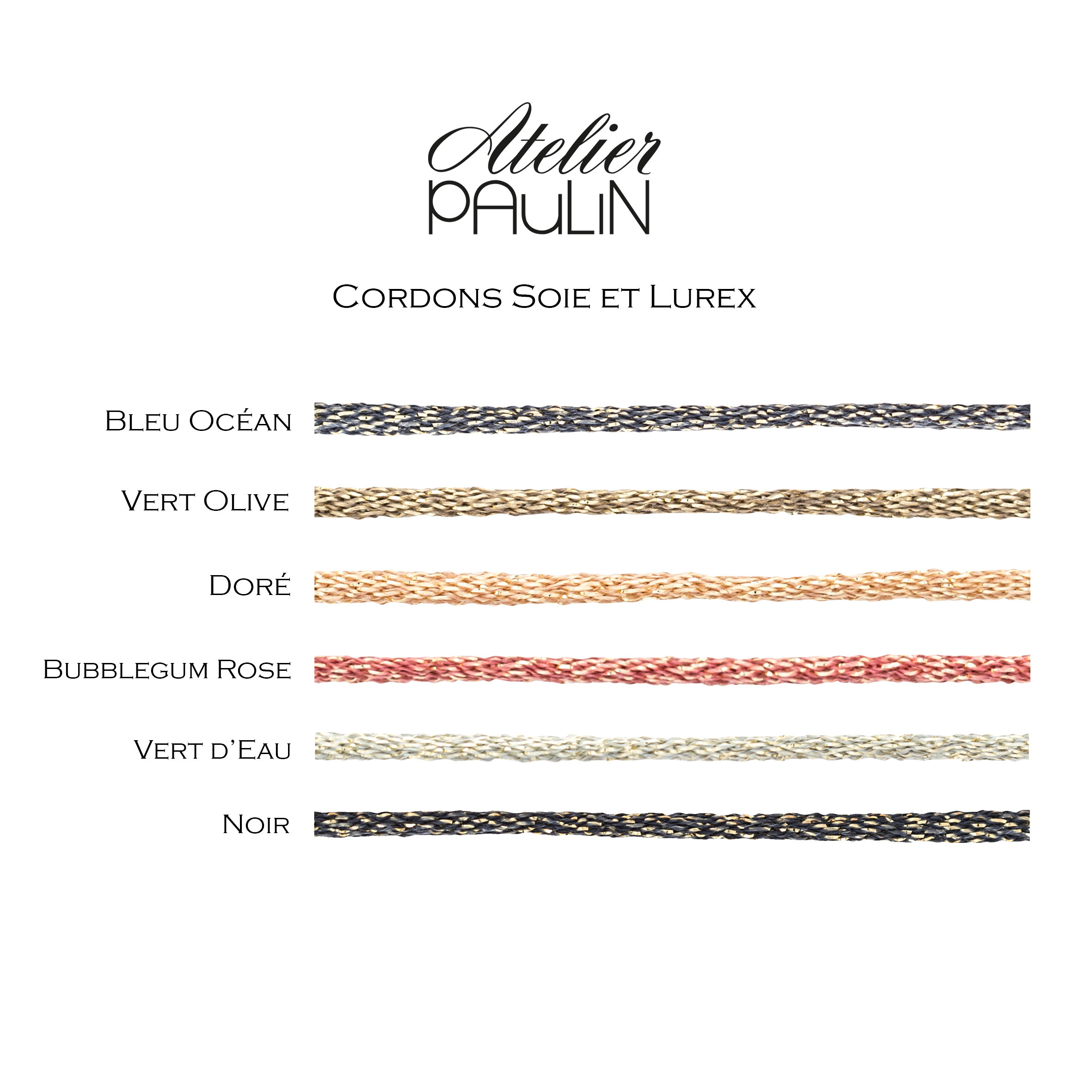 ATELIER PAULIN - Bracelet Cordon Lurex Jetaime Gold Filled