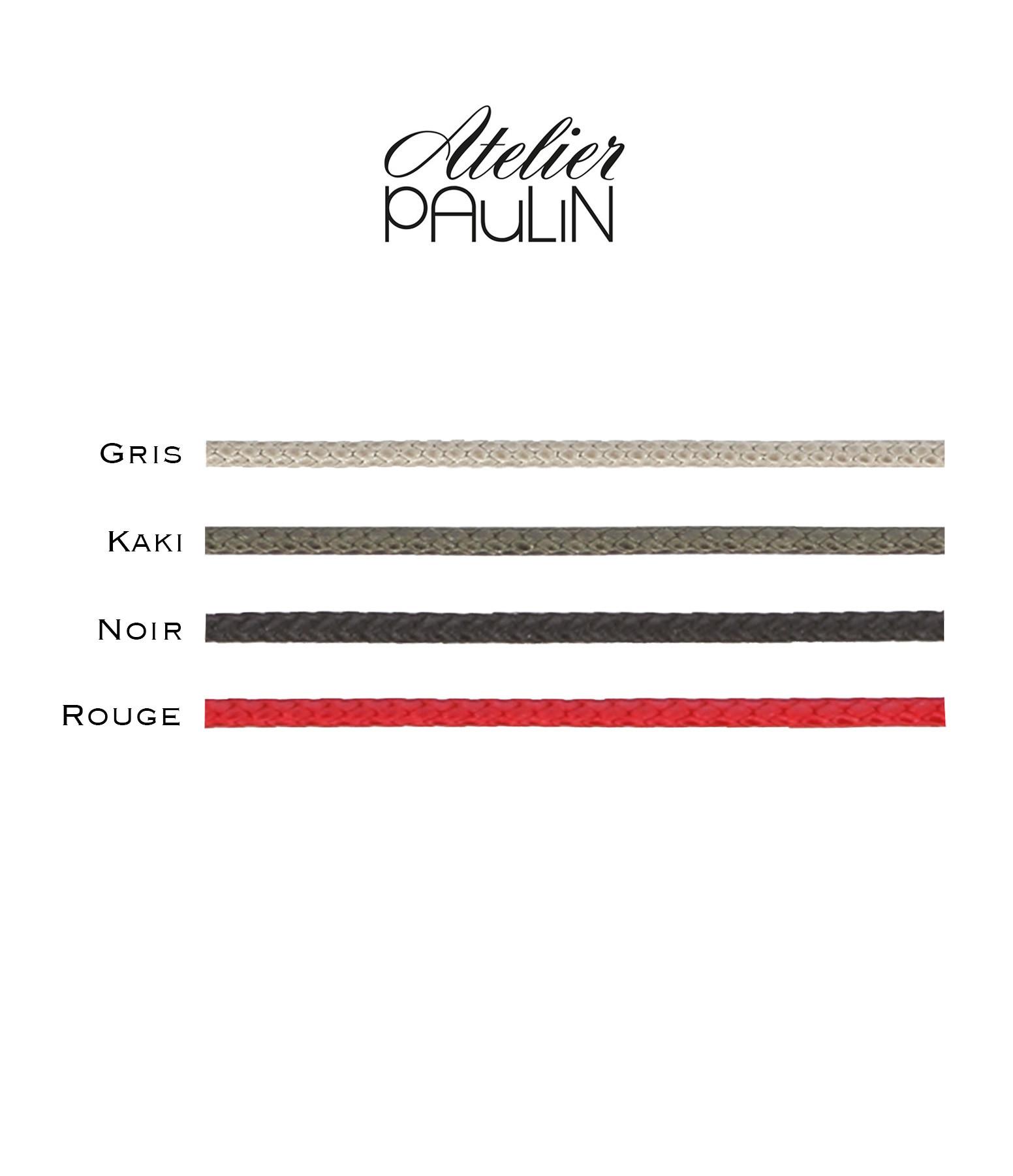 ATELIER PAULIN - Bracelet Cordon Ciré Love Gold Filled