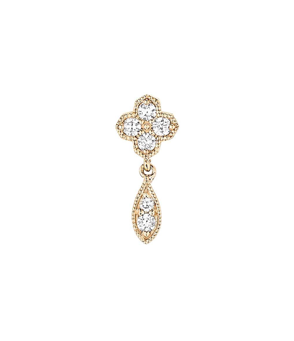 STONE PARIS - BO Bouton Fleurs du Mal Diamants (vendue à l'unité)