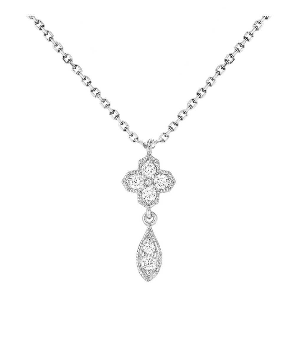 STONE PARIS - Collier Simple Fleurs du Mal Or Diamants