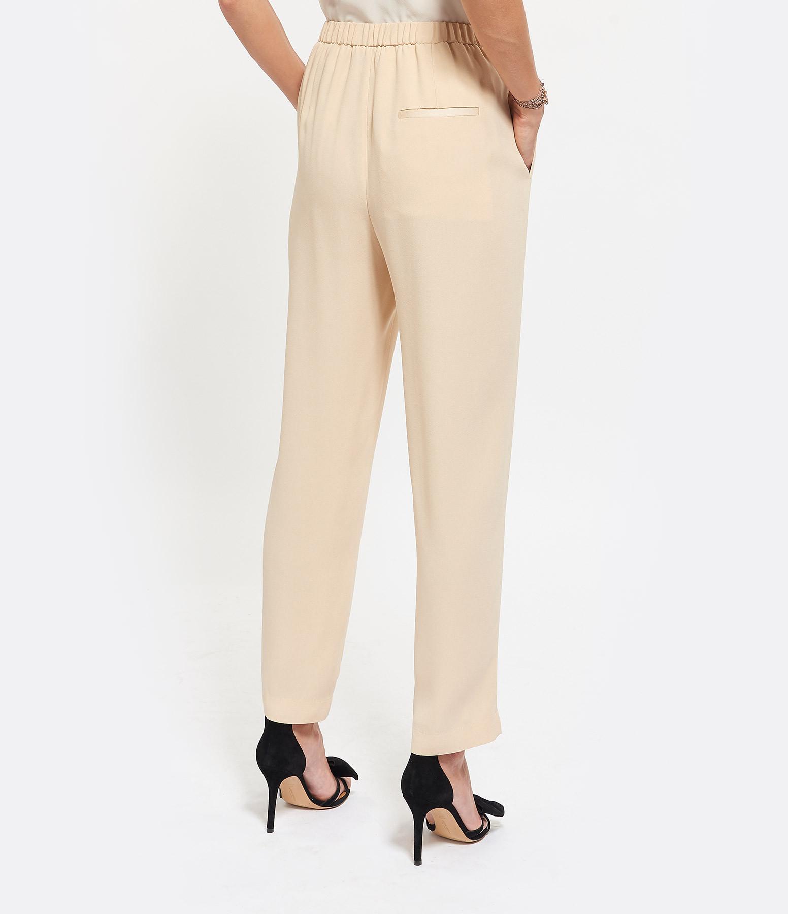 FORTE_FORTE - Pantalon à Pince Crepe Vanille