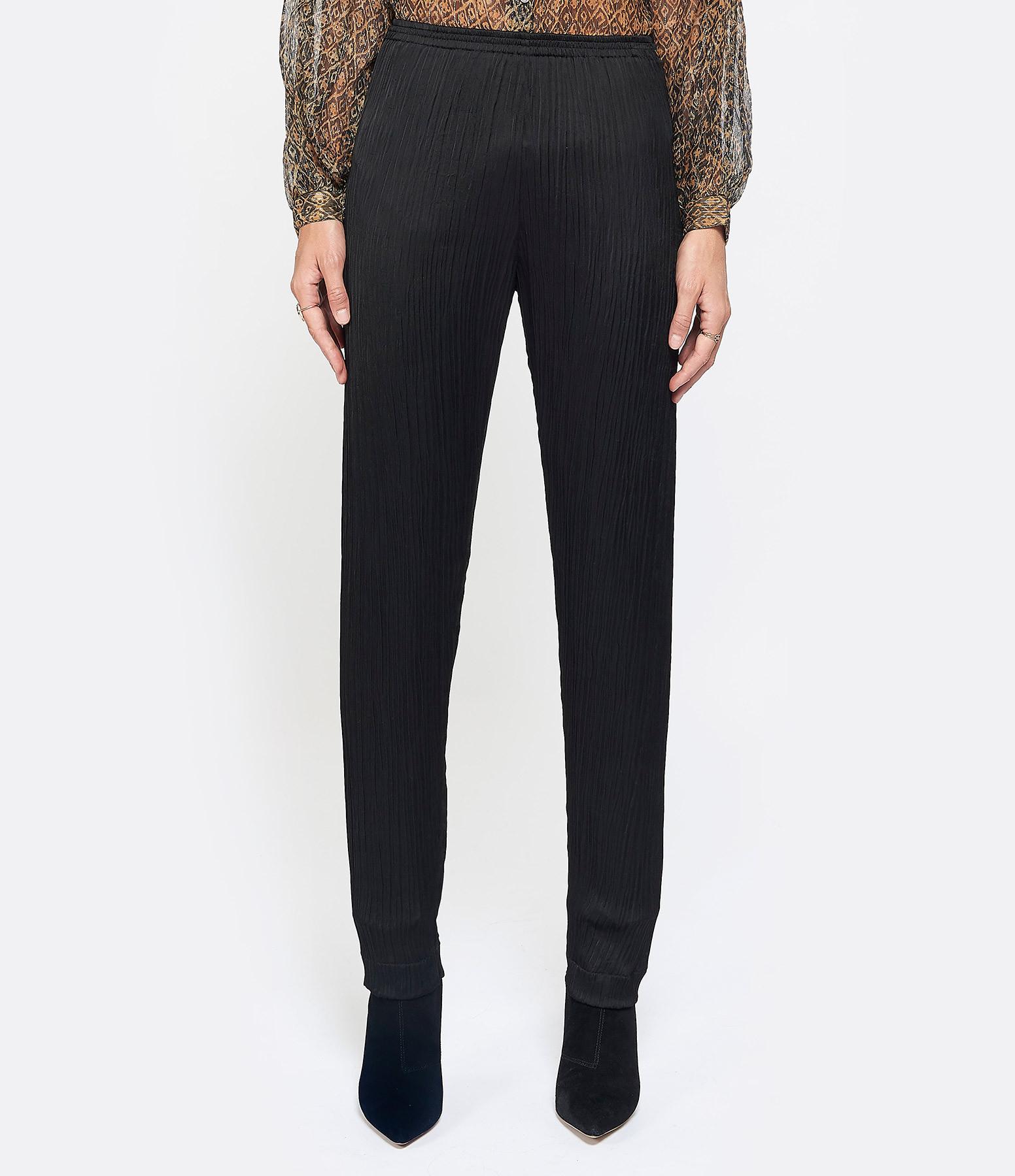 FORTE_FORTE - Pantalon Fluide Crèpe Noir