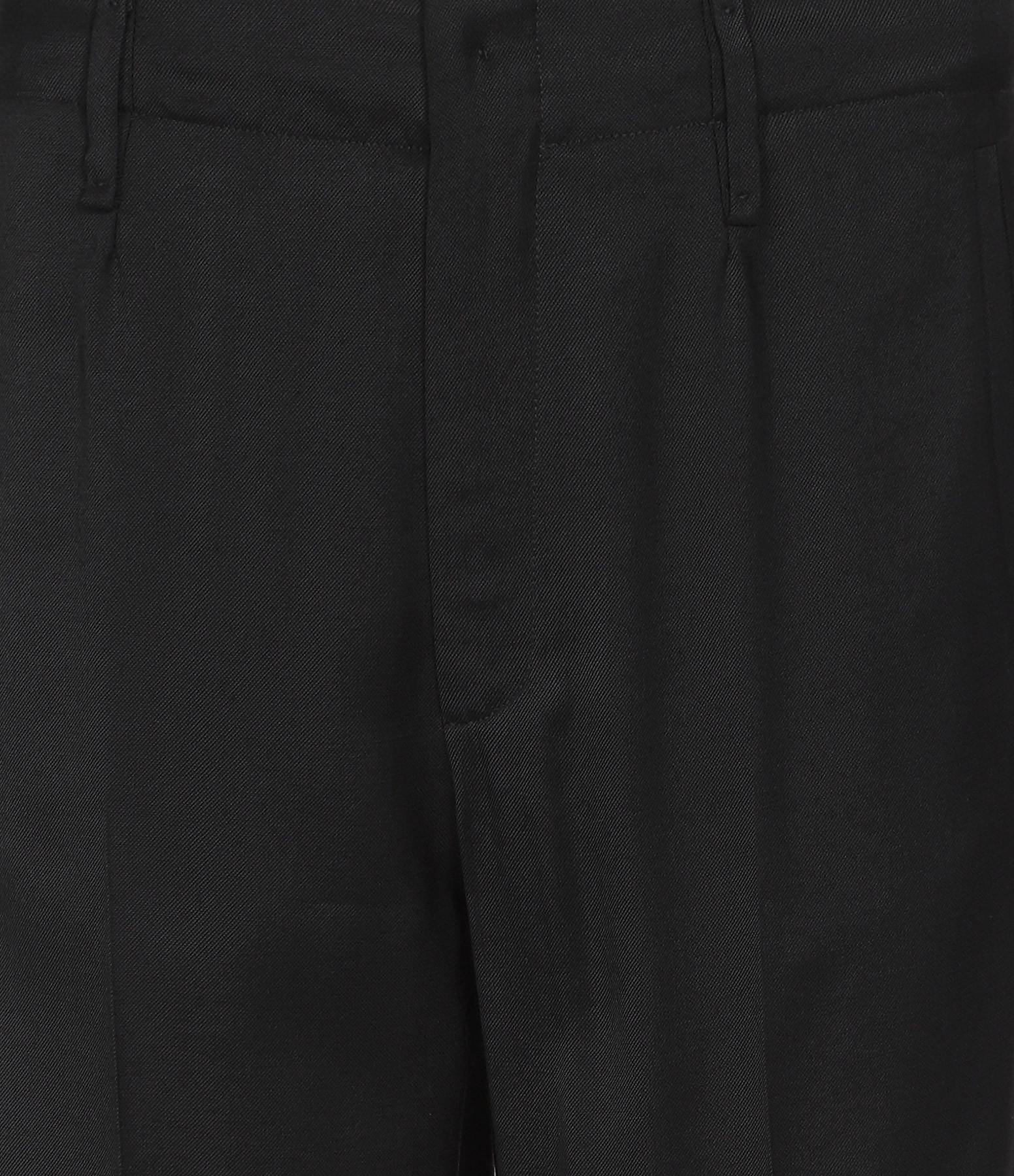 FORTE_FORTE - Pantalon Smoking Satin Noir