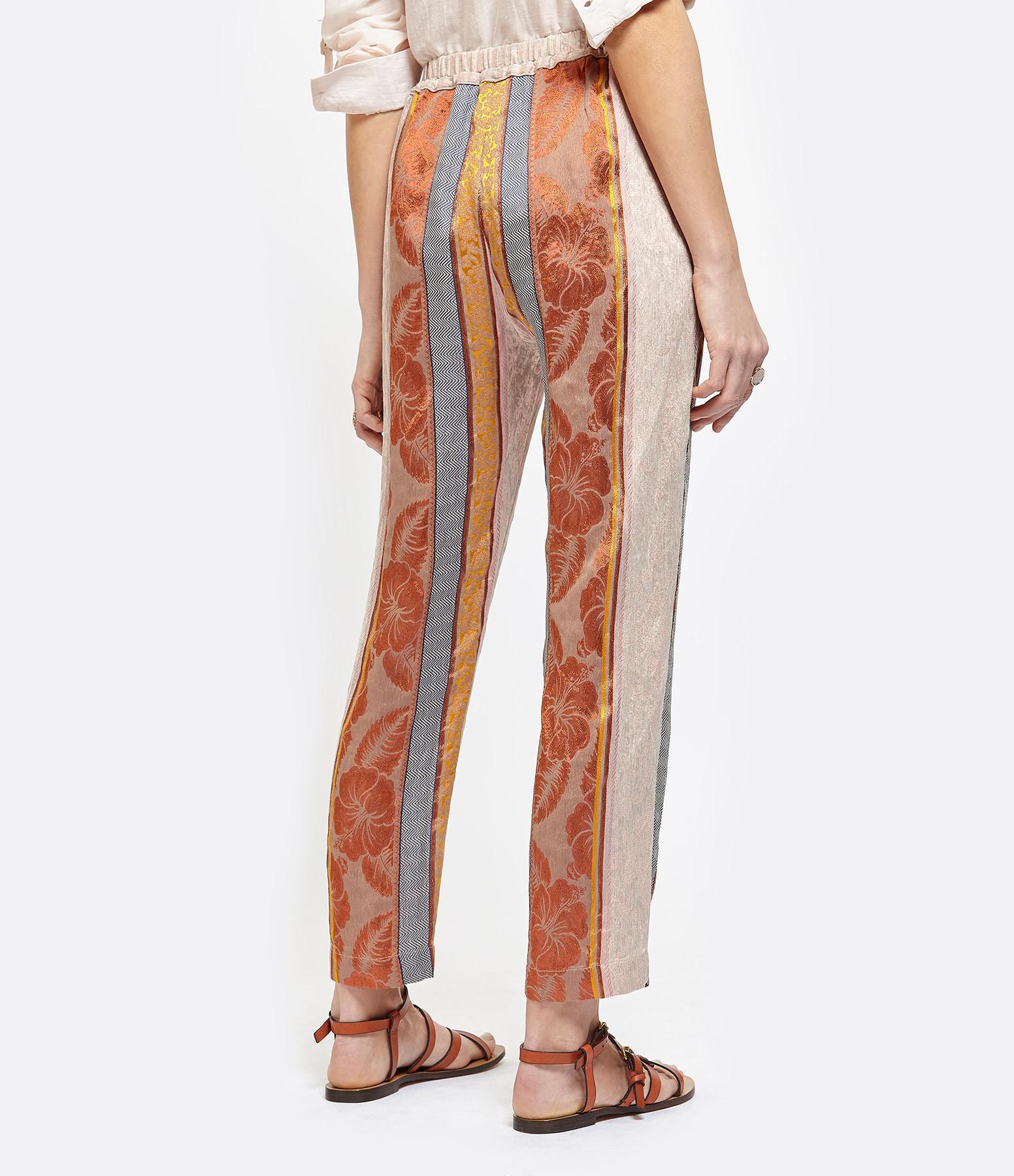 FORTE_FORTE - Pantalon Saint Barth Jacquard Terracotta
