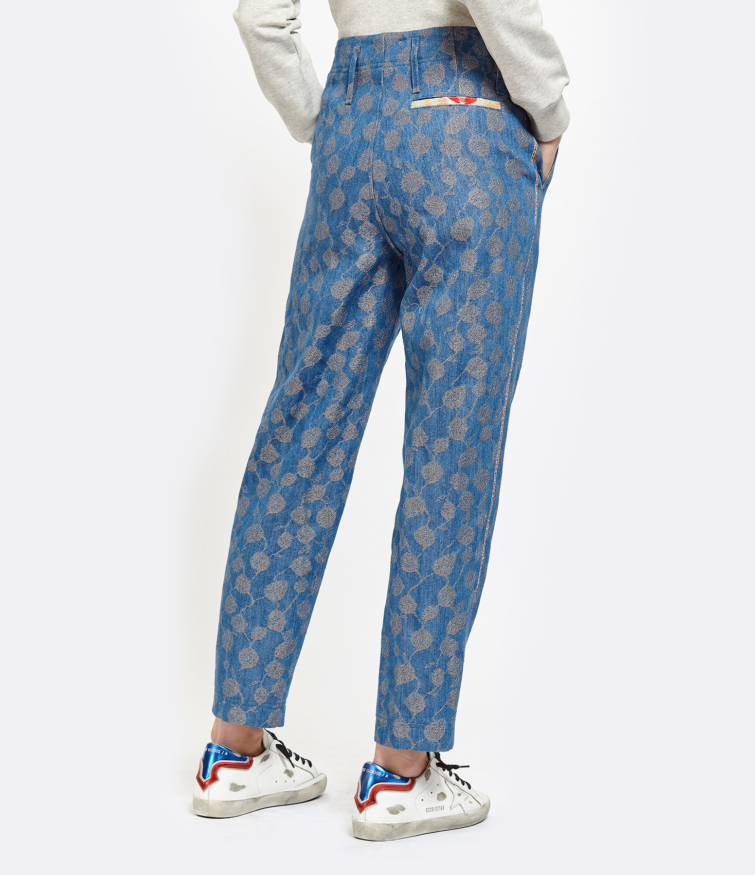 FORTE_FORTE - Pantalon Chachacha Jaquard Indigo