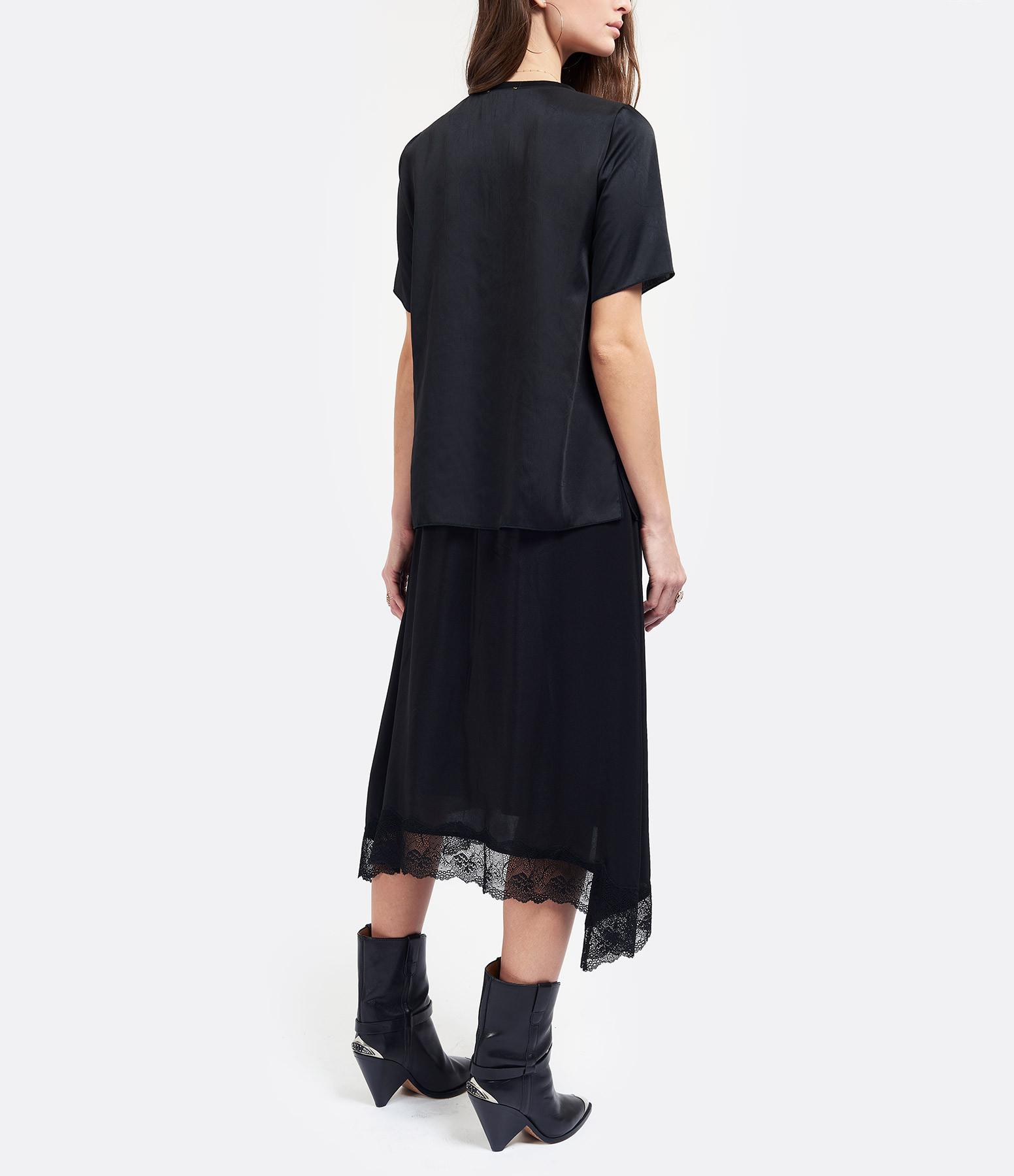 FORTE_FORTE - Tee-shirt Satin Noir