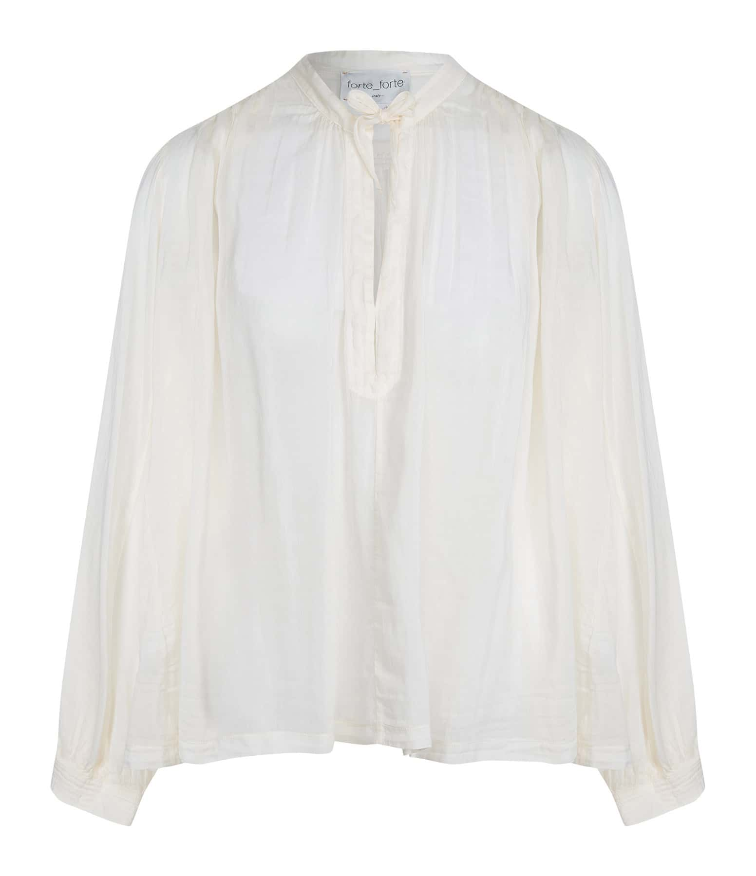FORTE_FORTE - Blouse Bohemian Voile Coton Coquillage