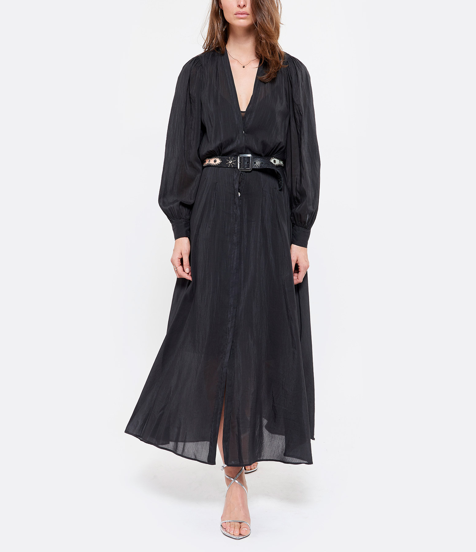 FORTE_FORTE - Robe Coton Voile Noir