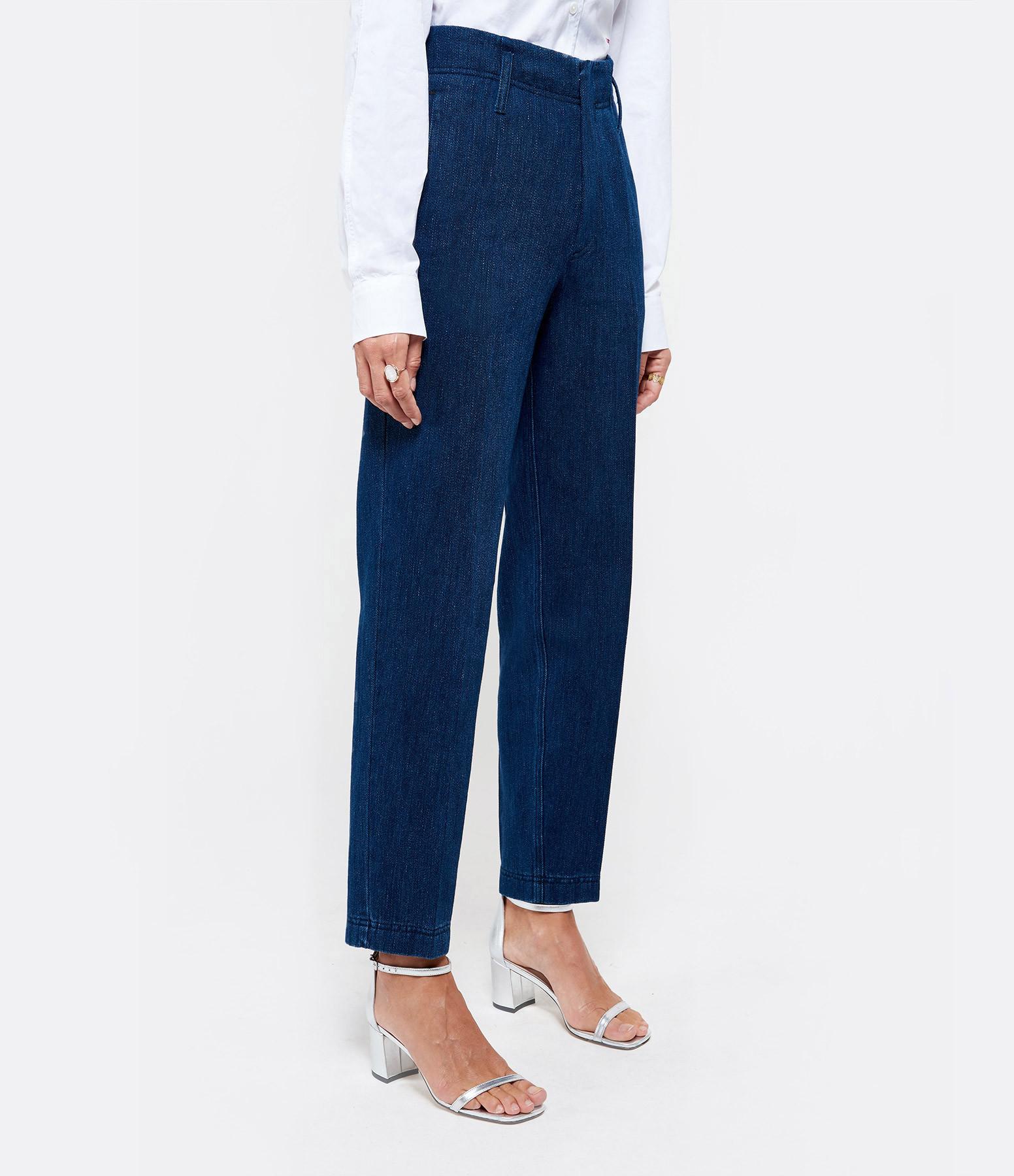 FORTE_FORTE - Pantalon Coton Denim Indigo