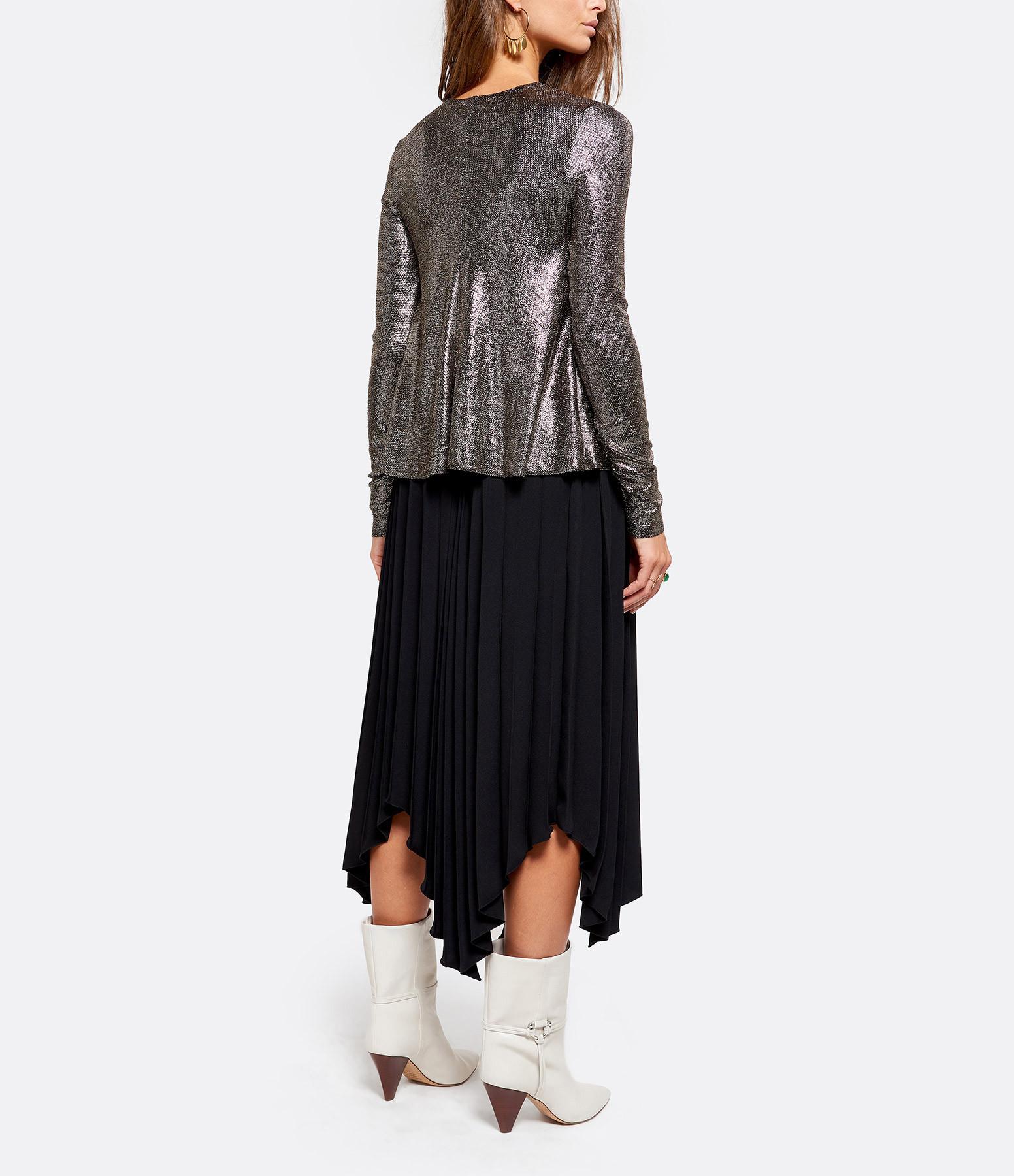 FORTE_FORTE - Tee-shirt Laminated Jersey Noir