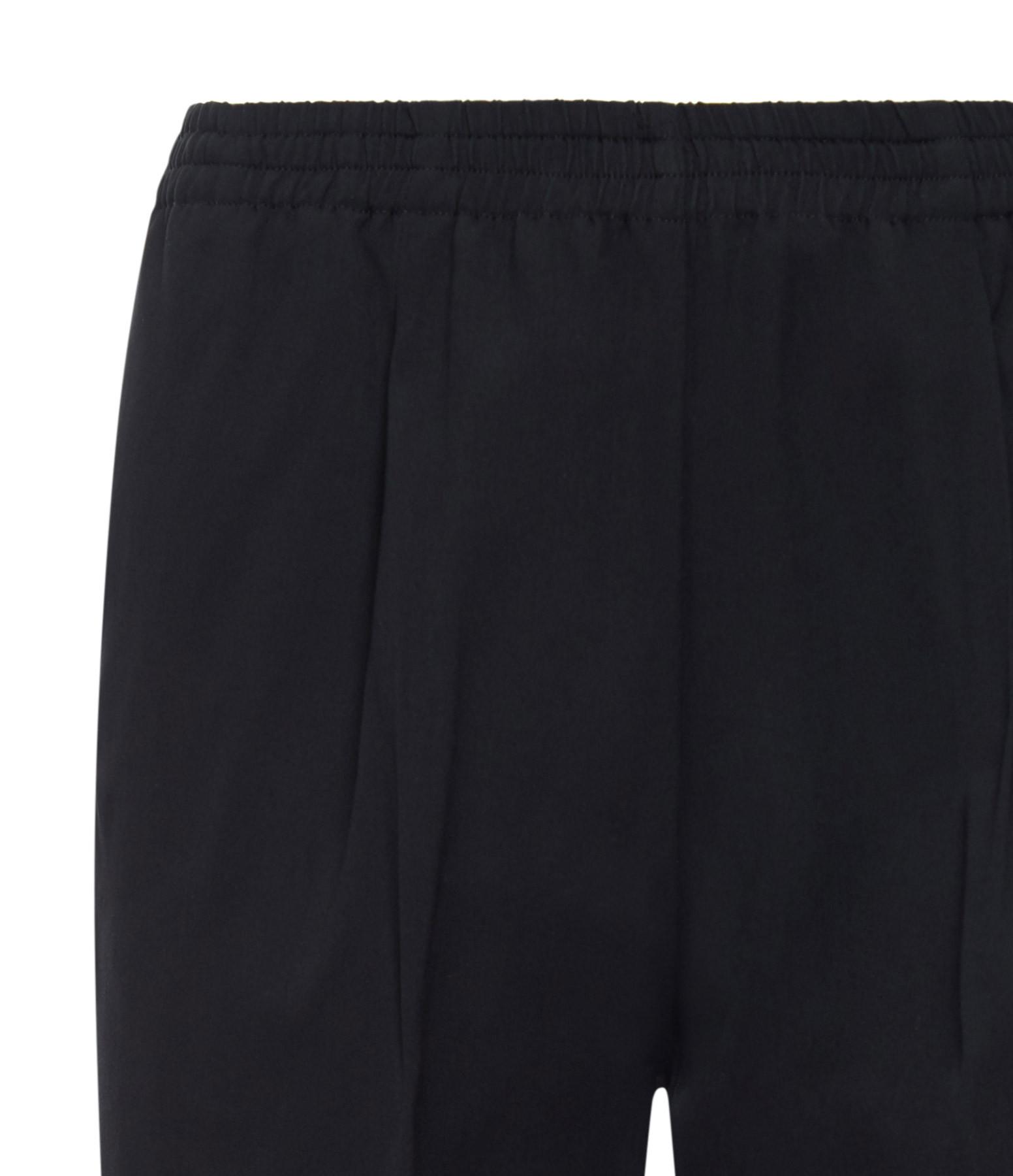 FORTE_FORTE - Pantalon Fluide Élastiqué Noir