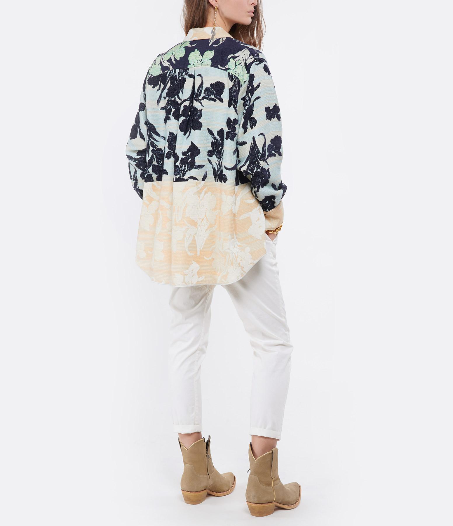 FORTE_FORTE - Sur-chemise Bloom Jacquard Mint Imprimé