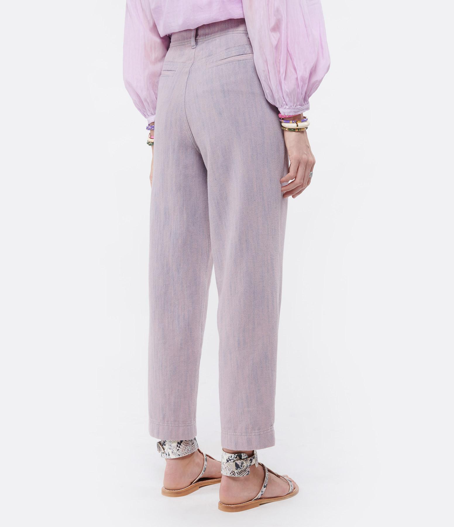 FORTE_FORTE - Pantalon Denim Lilas
