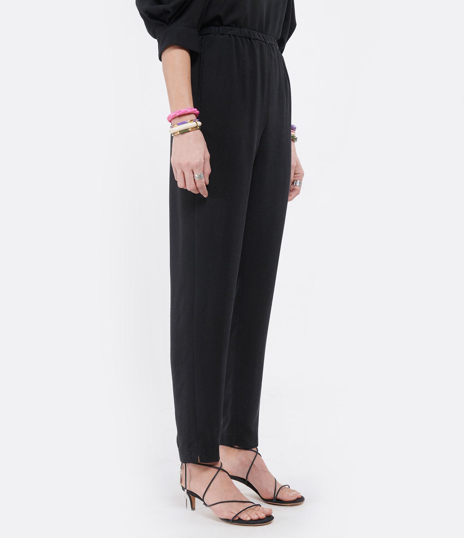 FORTE_FORTE - Pantalon Twill Noir