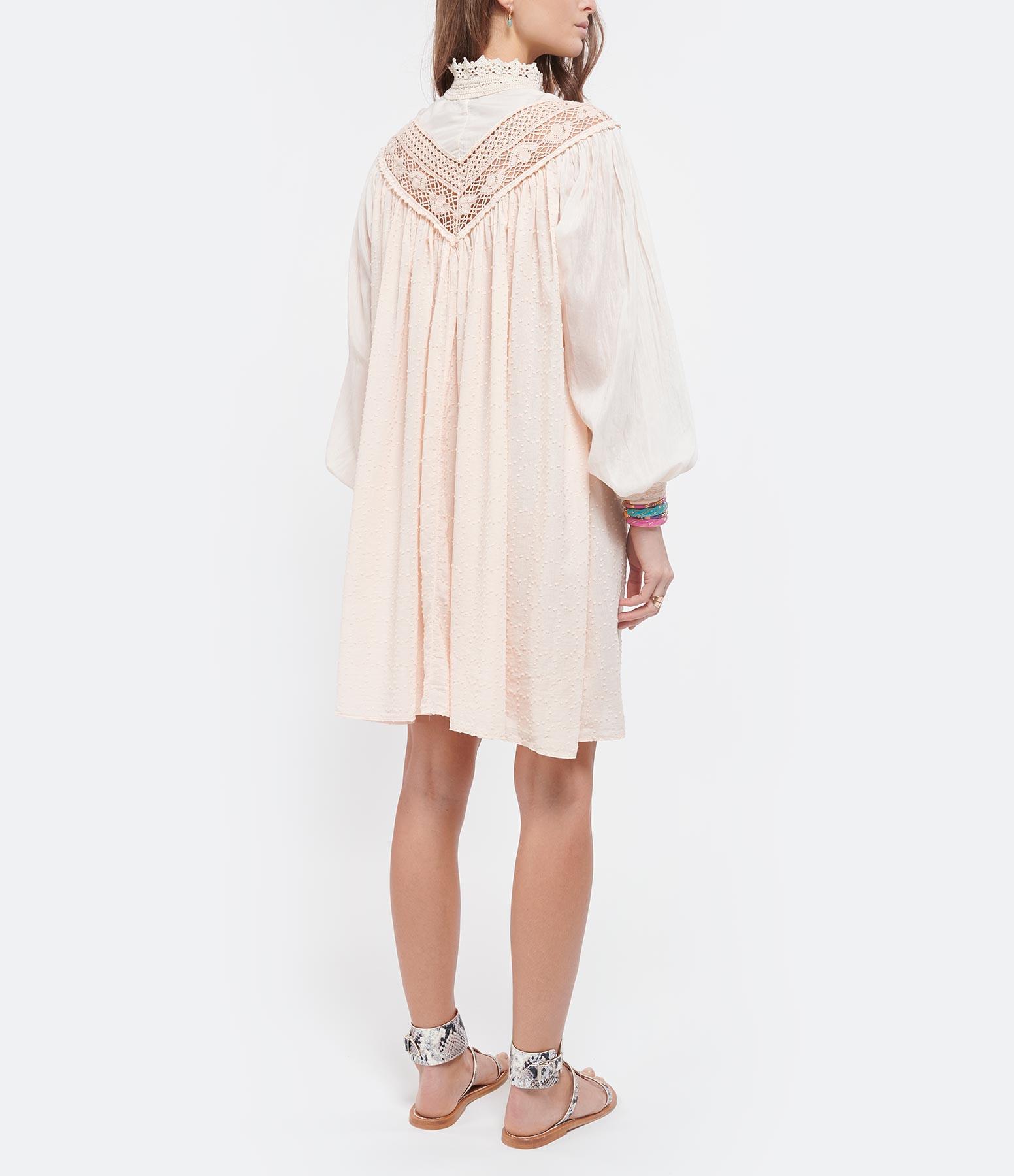 FORTE_FORTE - Robe Coton Plumetis Ivoire