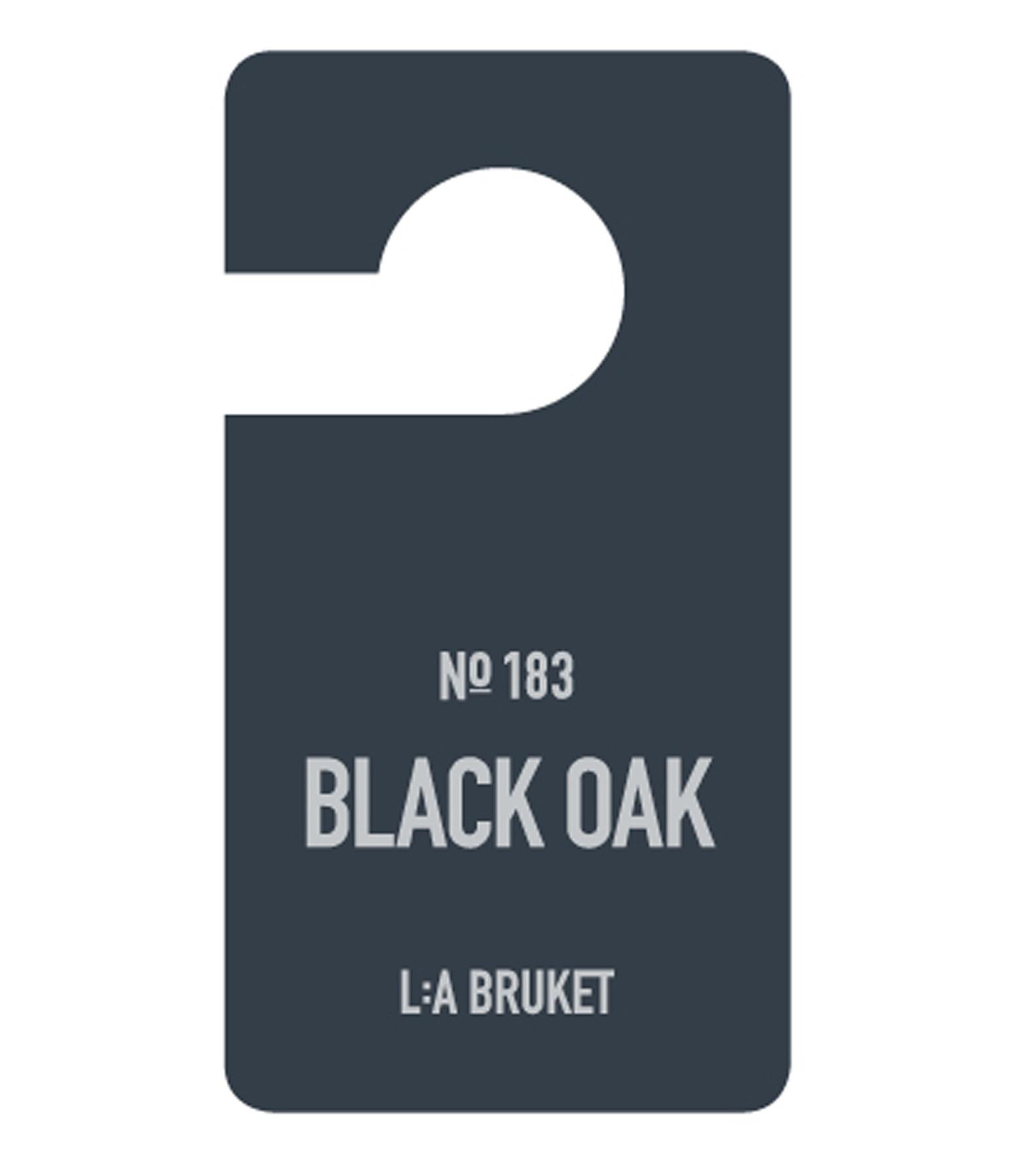L:A BRUKET - Etiquette Parfumée Black Oak N°183