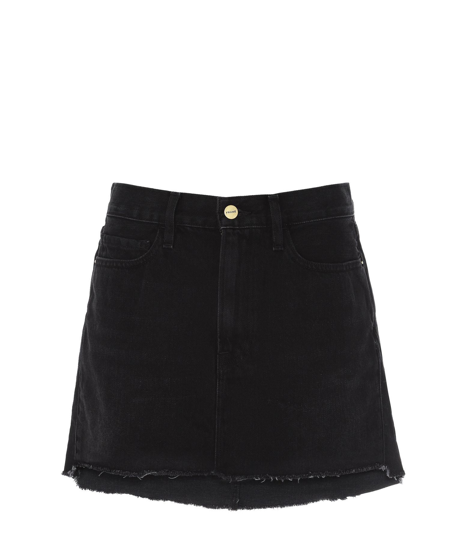 FRAME - Jupe Triangle Coton Panthère Noir