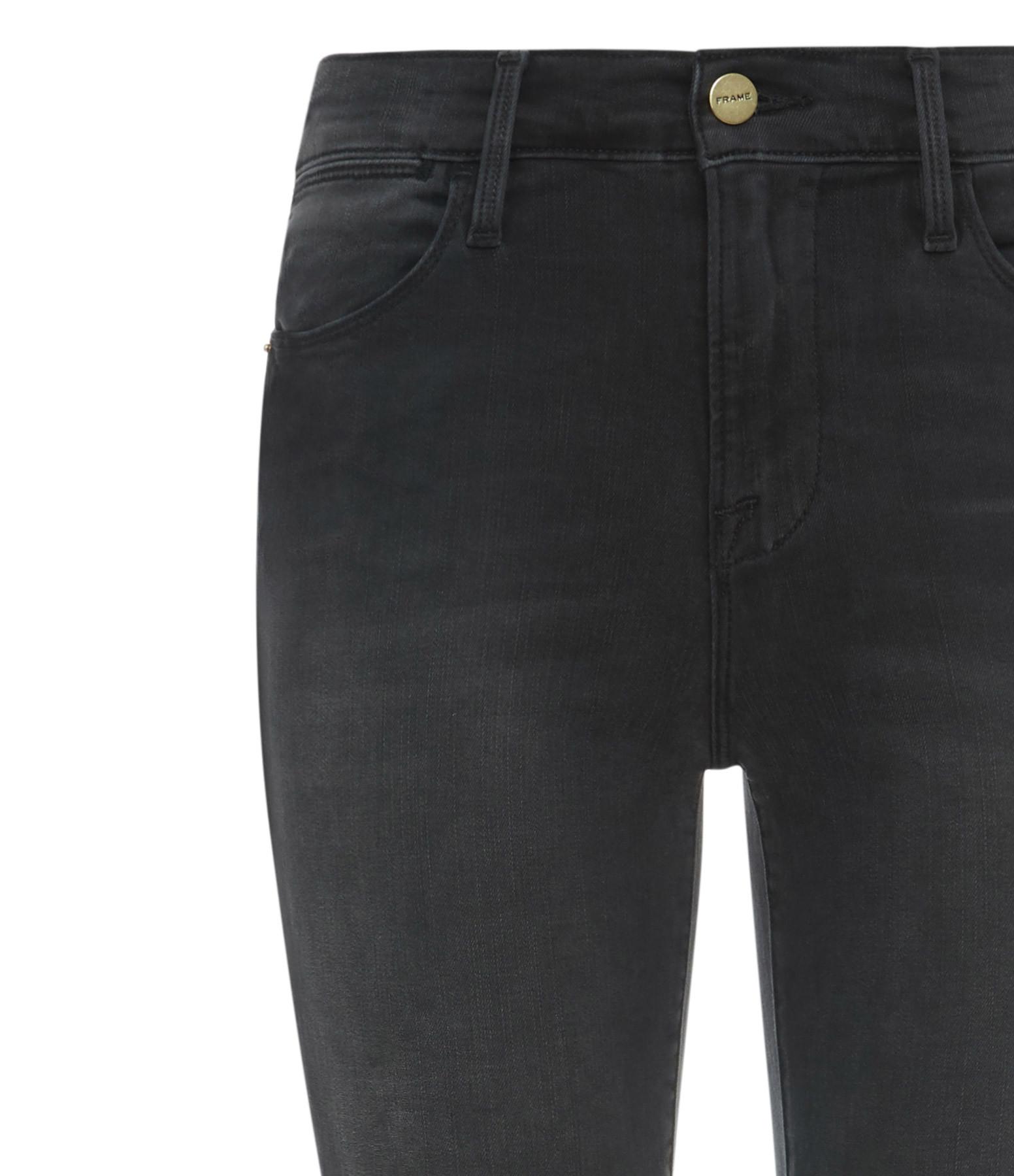 FRAME - Jean Le High Skinny Crop Coton Raw Edge