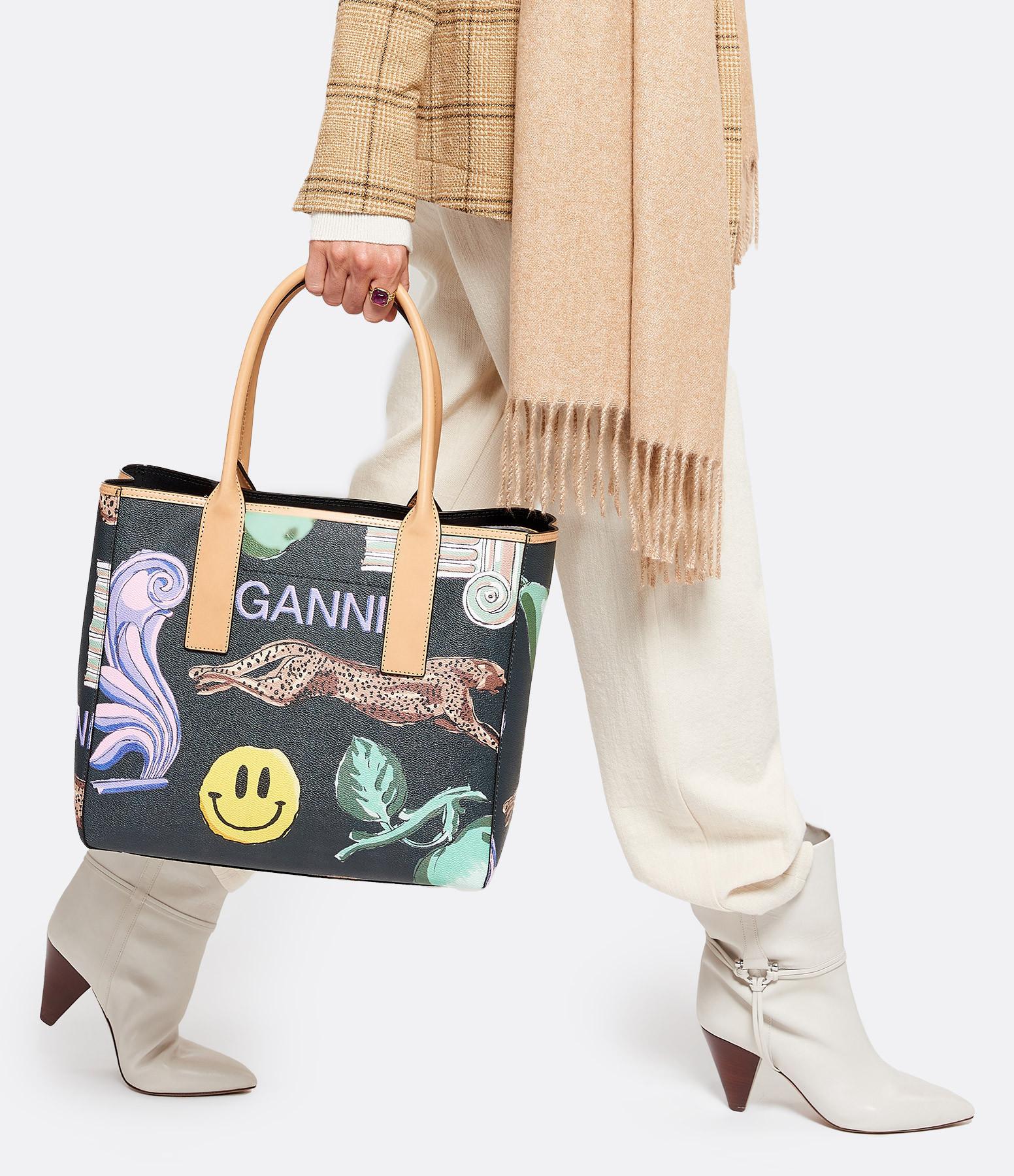 GANNI - Sac Cuir Multicolore