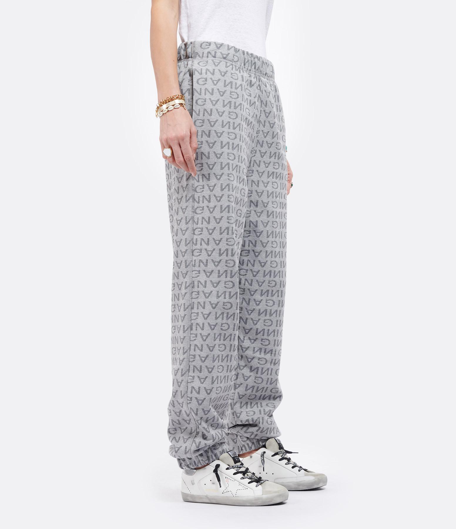 GANNI - Pantalon Jacquard Gris