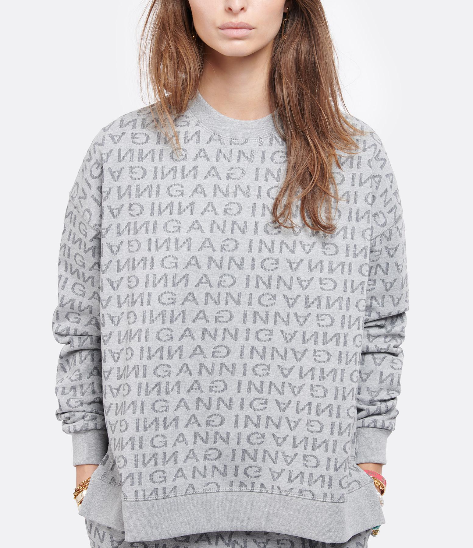 GANNI - Sweatshirt Jacquard Gris