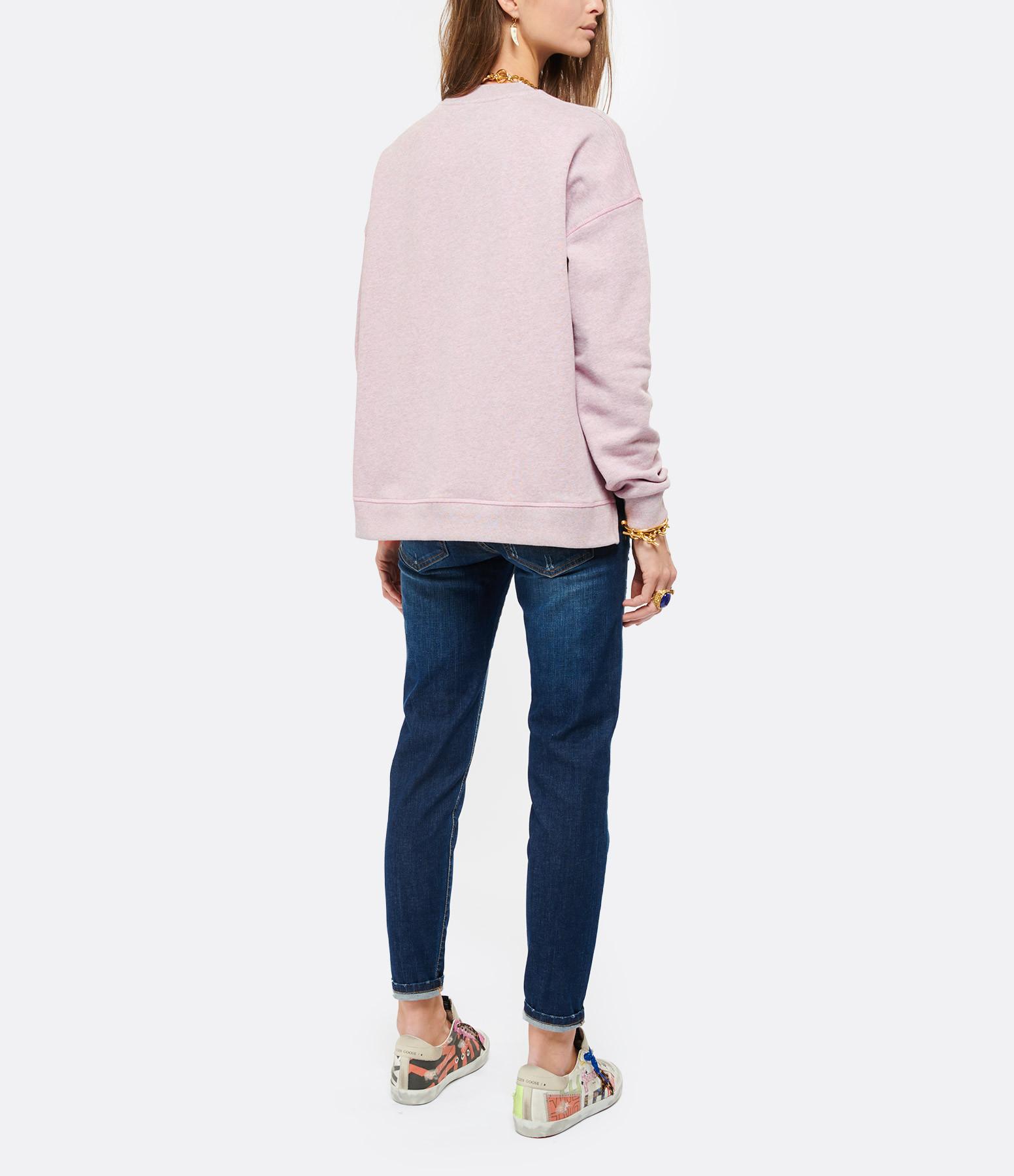 GANNI - Sweatshirt Ganni Coton Biologique Rose Pâle
