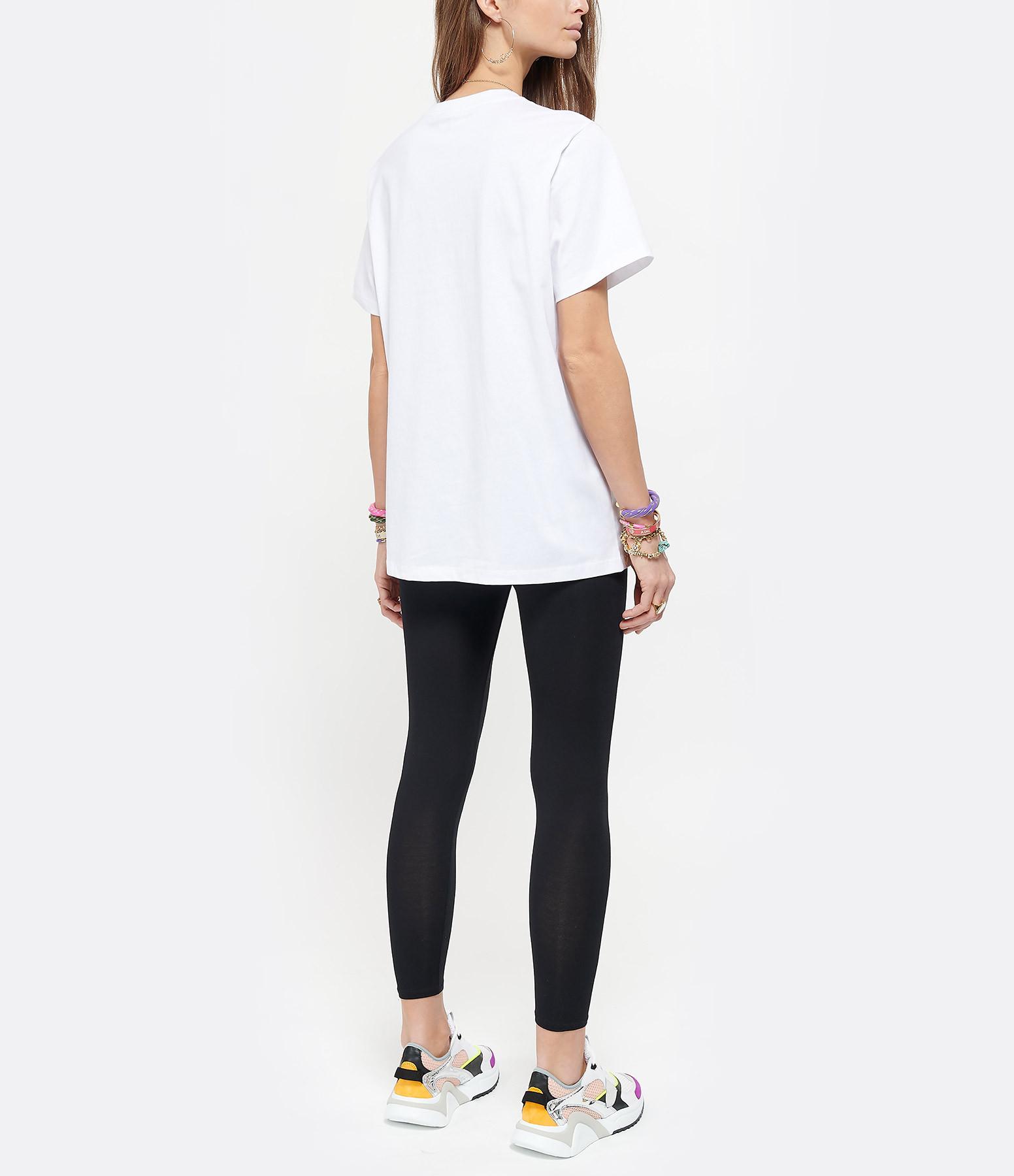 GANNI - Tee-shirt Basic Ganni Coton Blanc