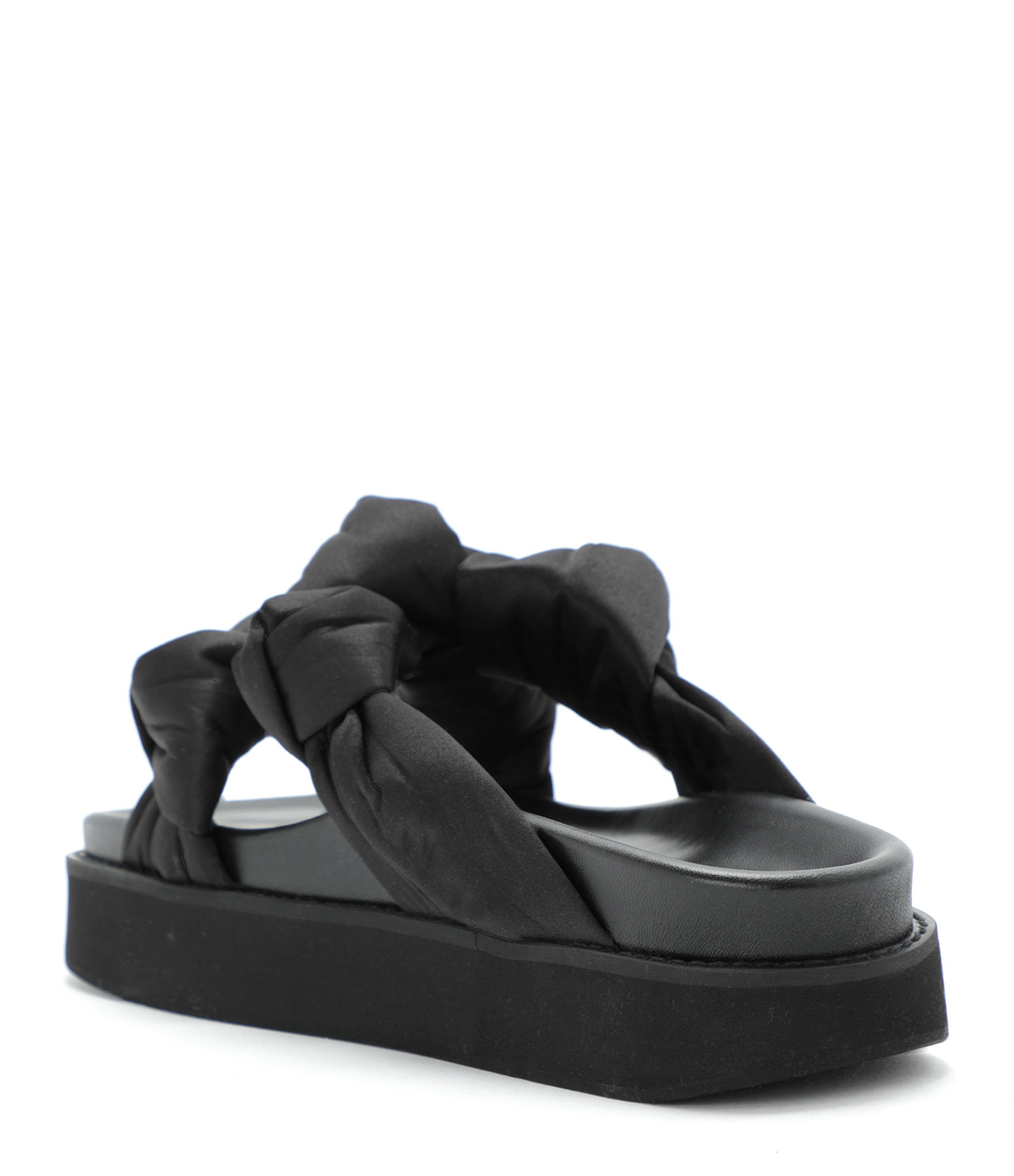 GANNI - Sandales Satin Biologique Noir