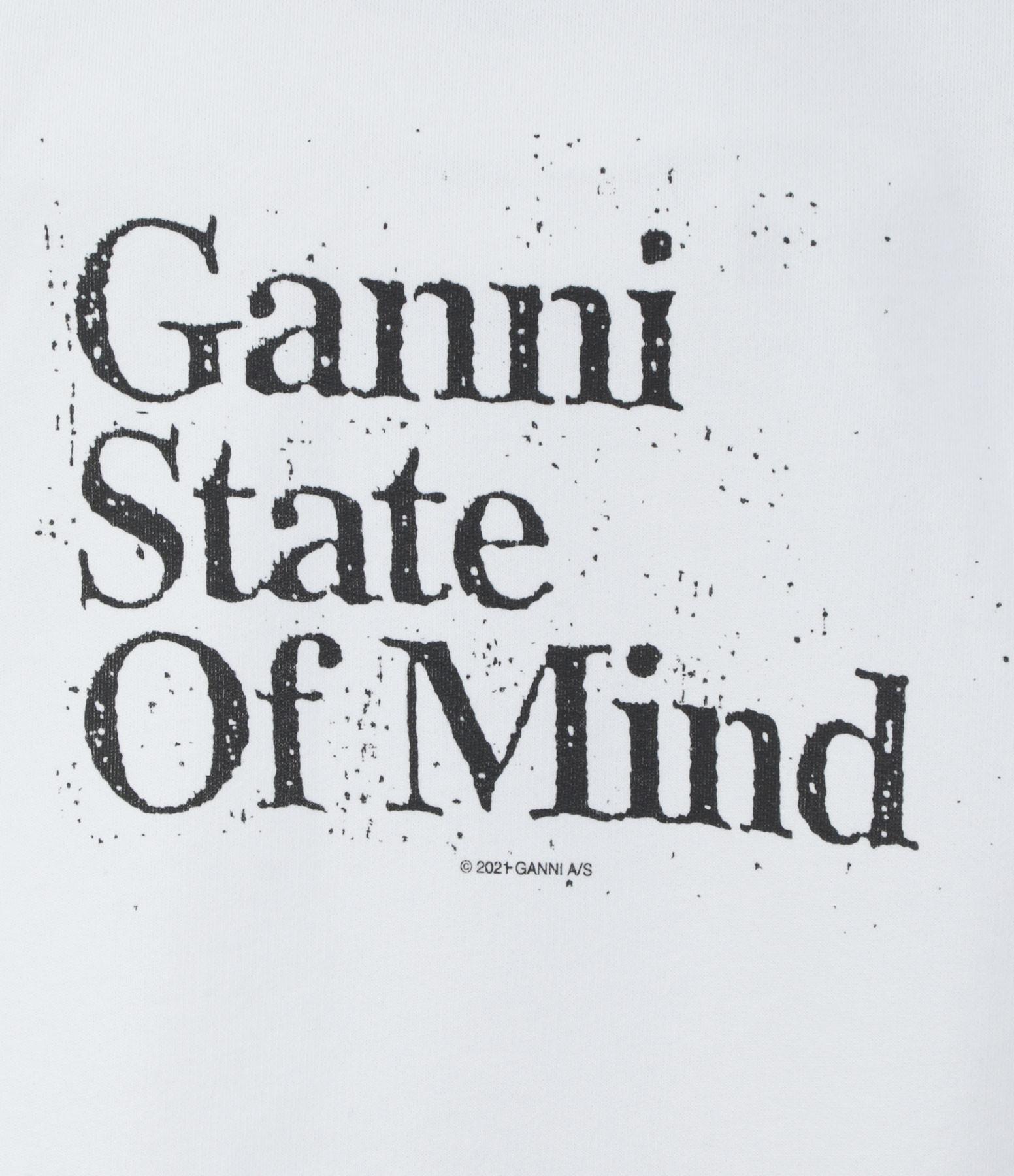 GANNI - Sweatshirt Ganni State Of Mind Gris