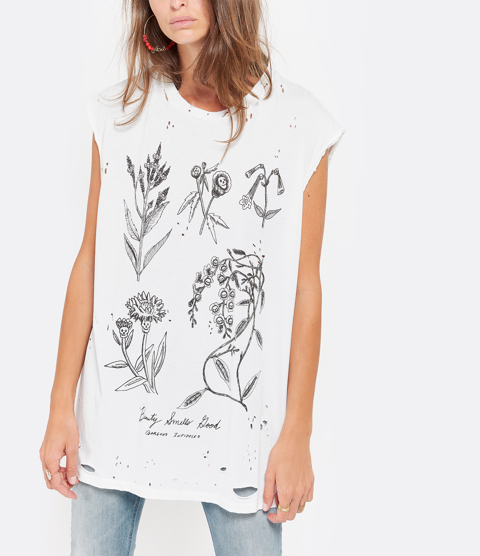 GARCONS INFIDELES - Débardeur Sleeve Coton Blanc