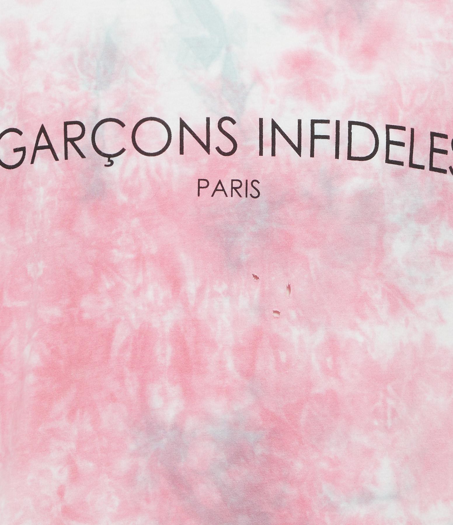 GARCONS INFIDELES - Tee-shirt Tie And Dye Coton Blanc