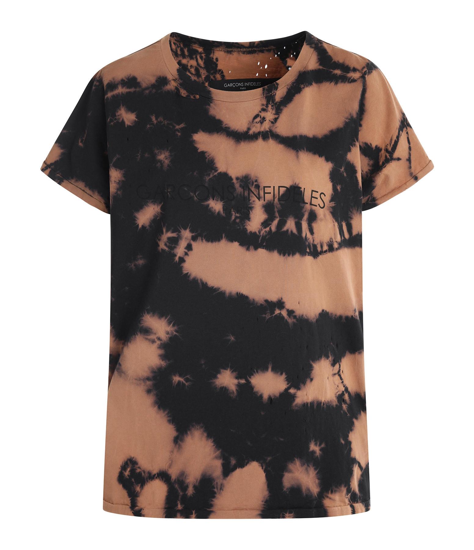 GARCONS INFIDELES - Tee-shirt Tie Die Coton Noir