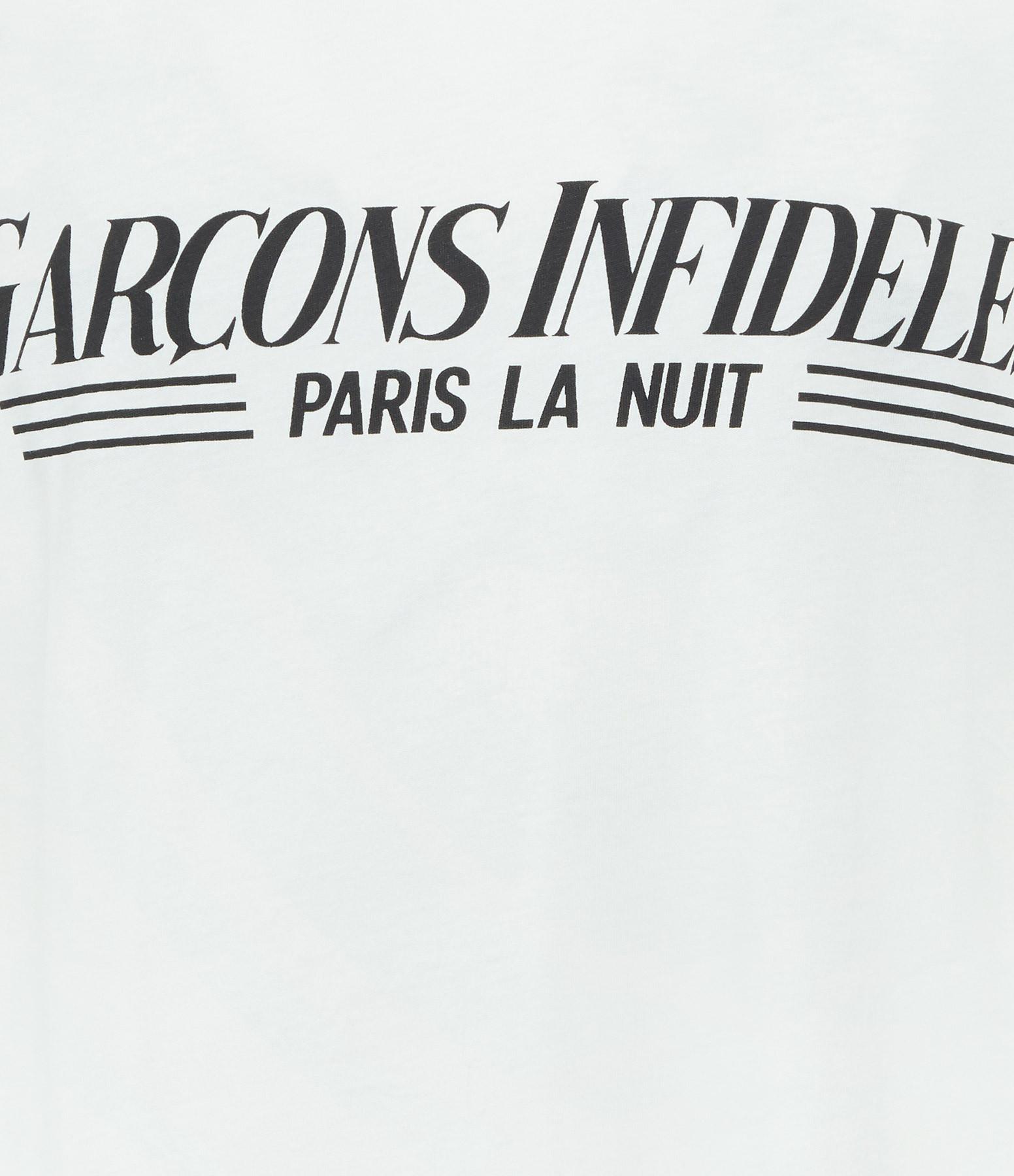 GARCONS INFIDELES - Tee-shirt Guest List Écru