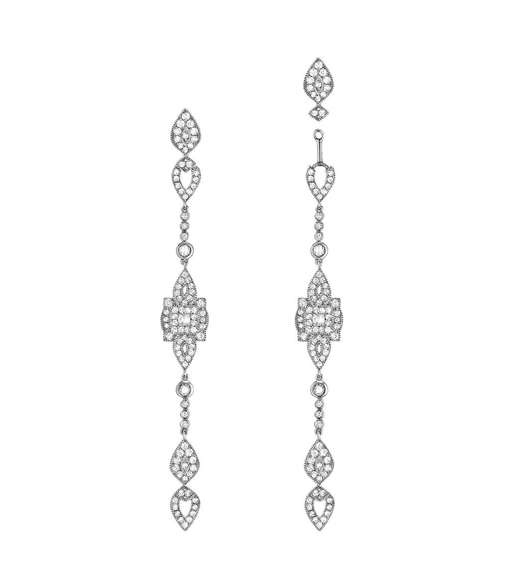 Boucles d'oreilles Longues Gatsby - Stone