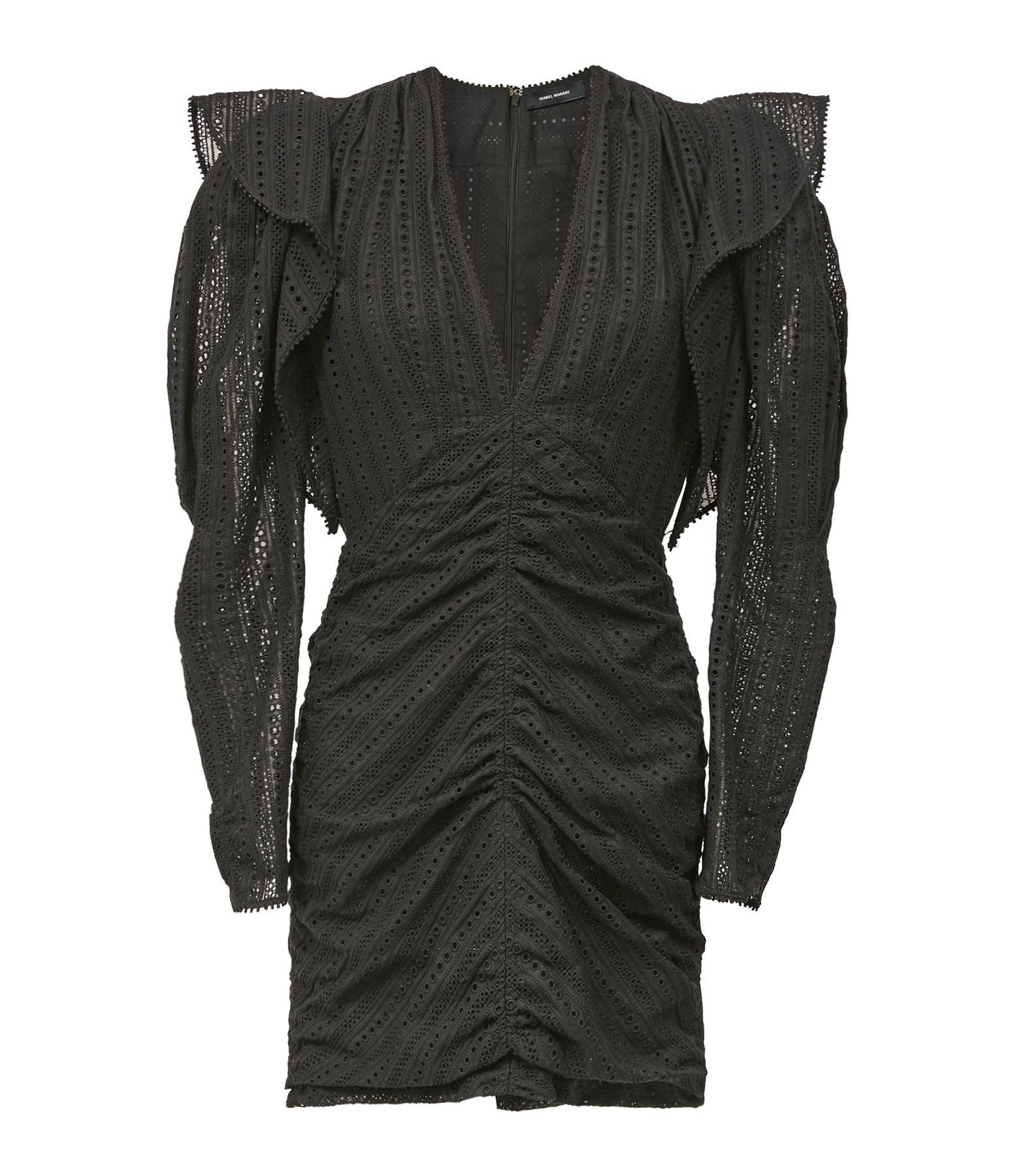 ISABEL MARANT - Robe Getya Coton Noir