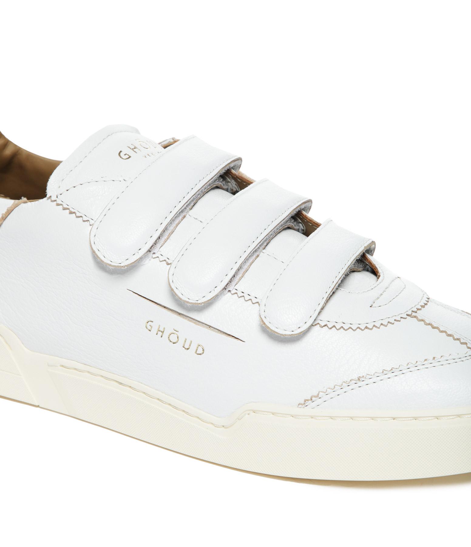 GHOUD VENICE - Baskets Lob Stripes Cuir Blanc