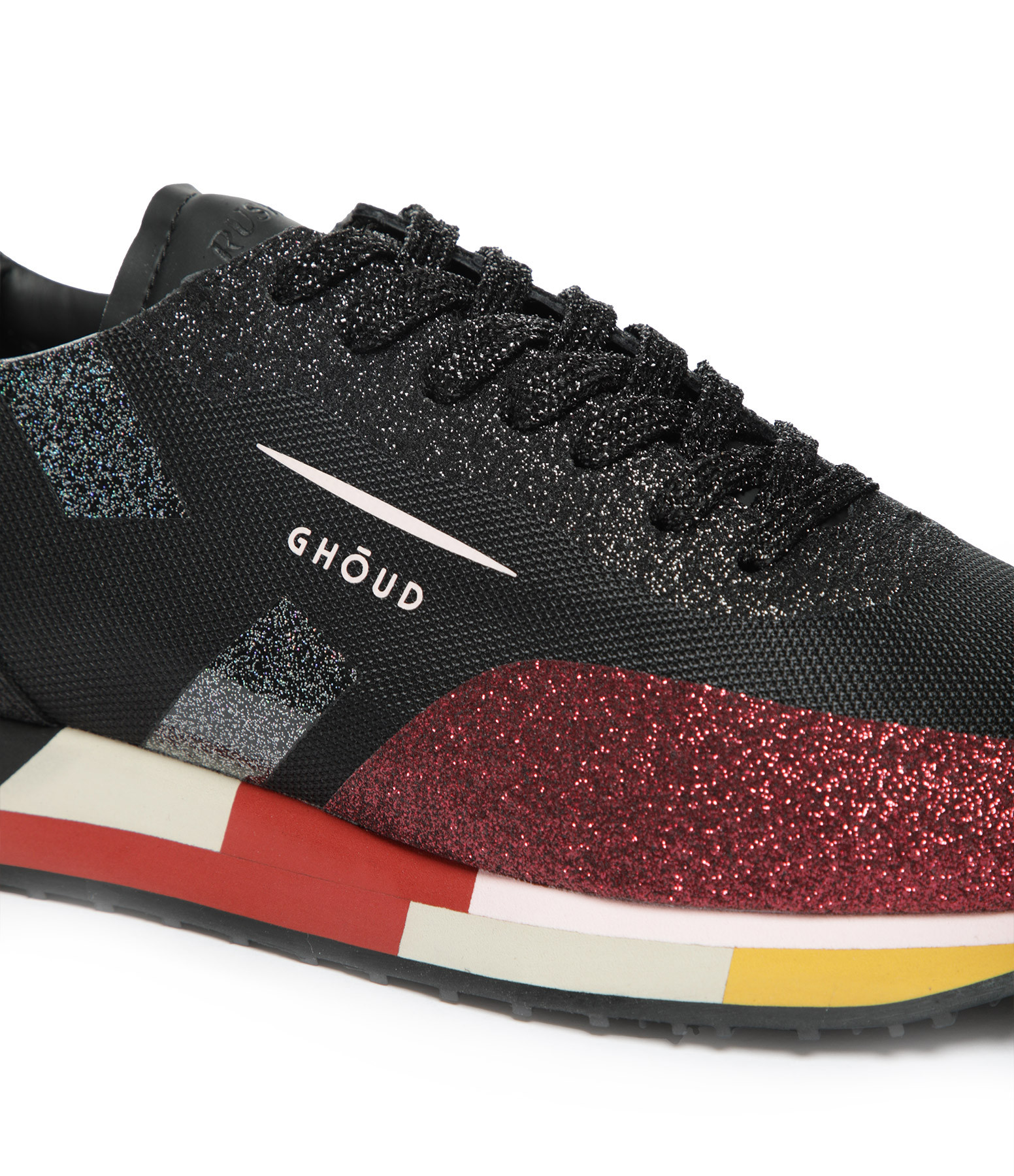 GHOUD VENICE - Baskets Running Star Glitter Noir Bordeaux
