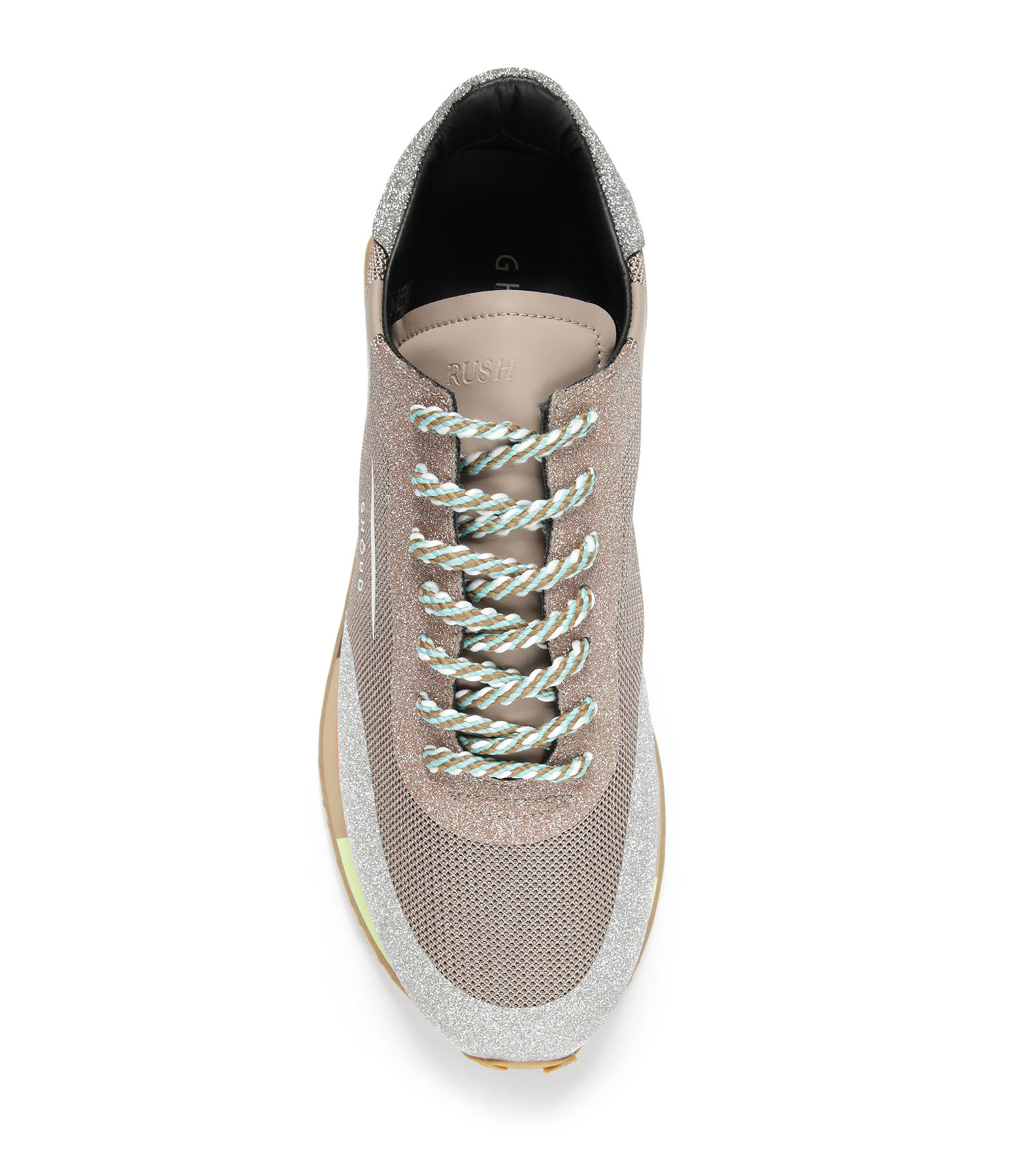 GHOUD VENICE - Baskets Running Star Glitter Sable Argent