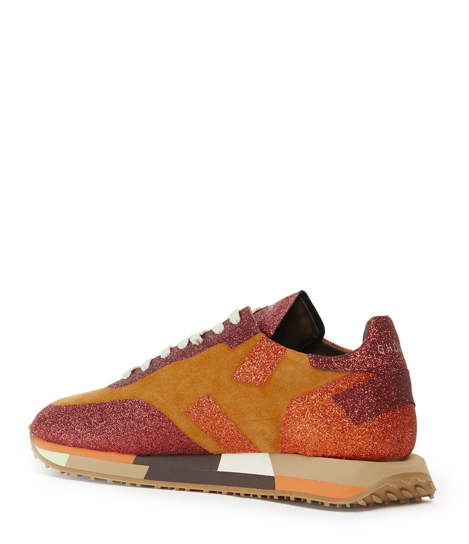 GHOUD VENICE - Baskets Running Star Suédé Glitter Orange