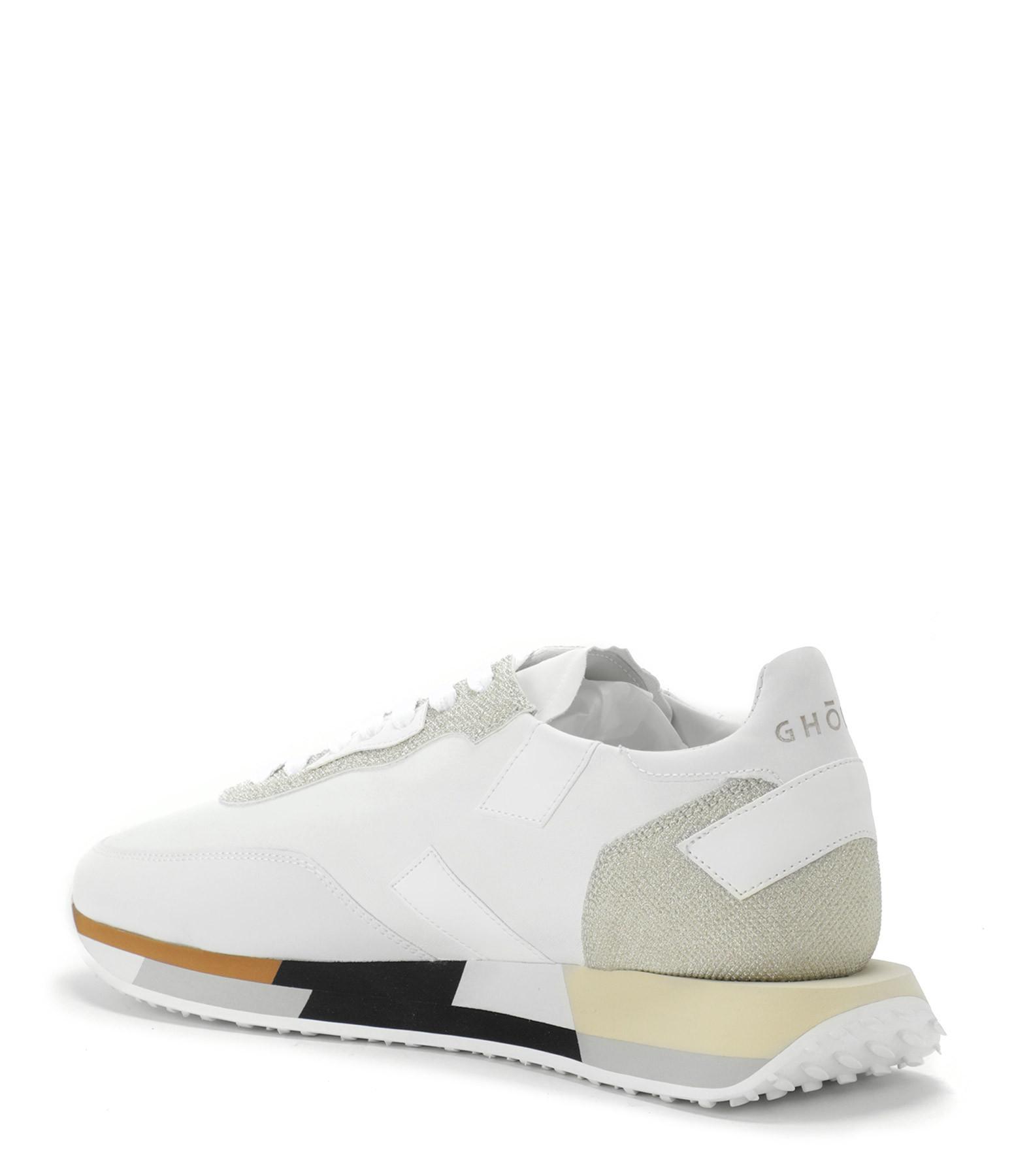 GHOUD VENICE - Baskets Rush Low Cuir Glitter Blanc Platinum