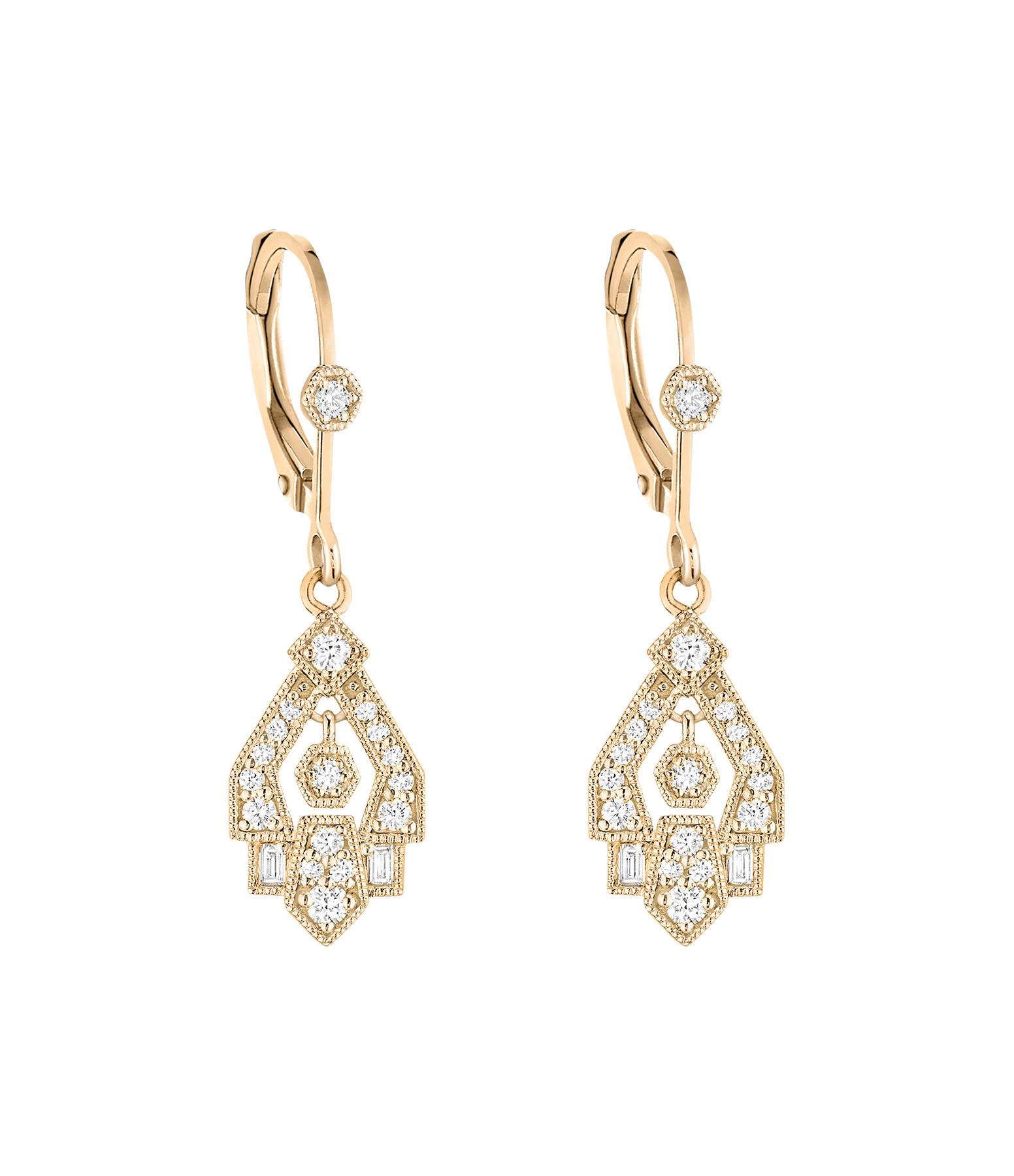 STONE PARIS - Boucles d'oreilles Dormeuses Gilda Or Diamants