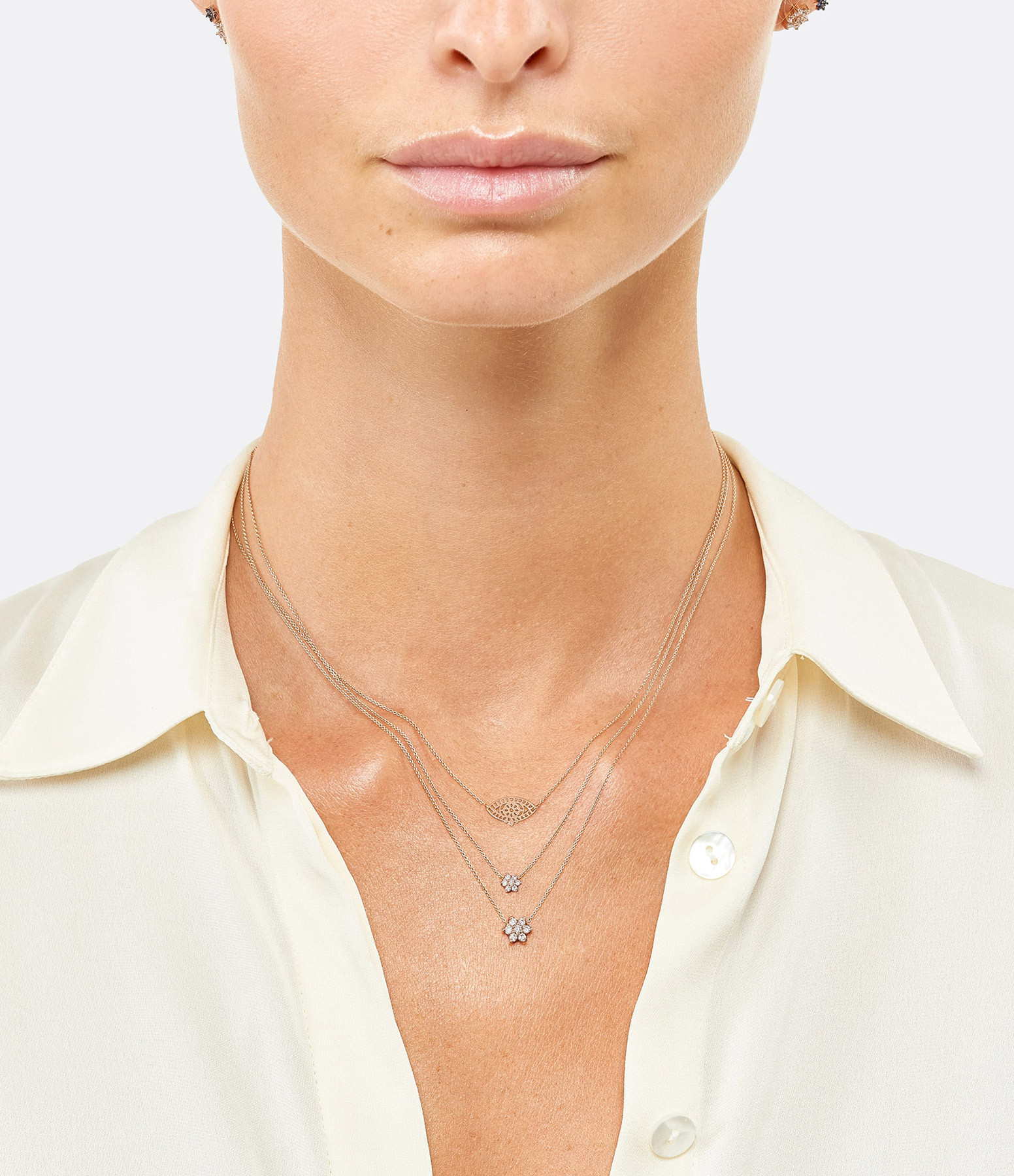 GINETTE NY - Collier Mini Ajna Or Rose