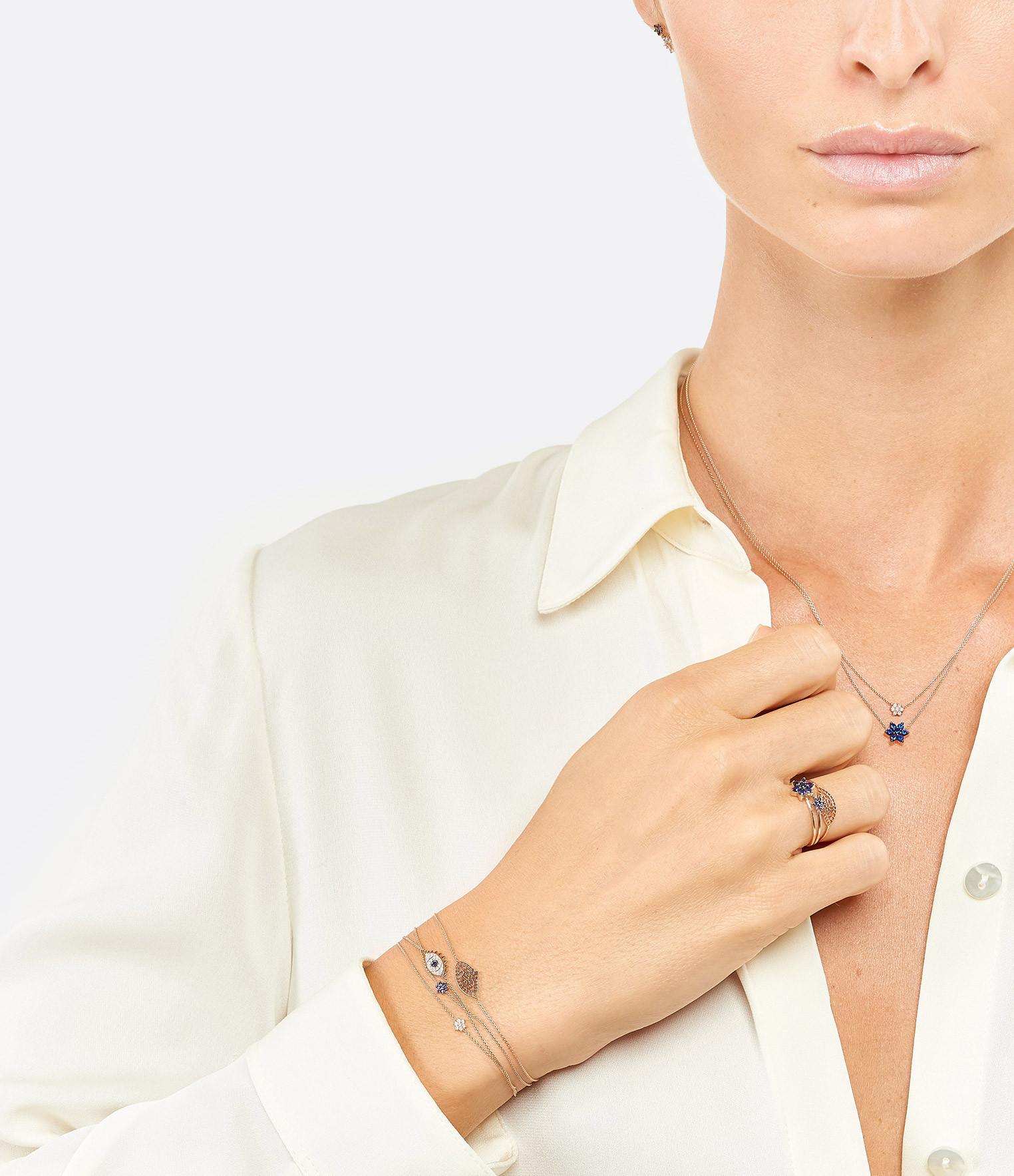GINETTE NY - Bracelet Mini Star Saphirs Or Rose